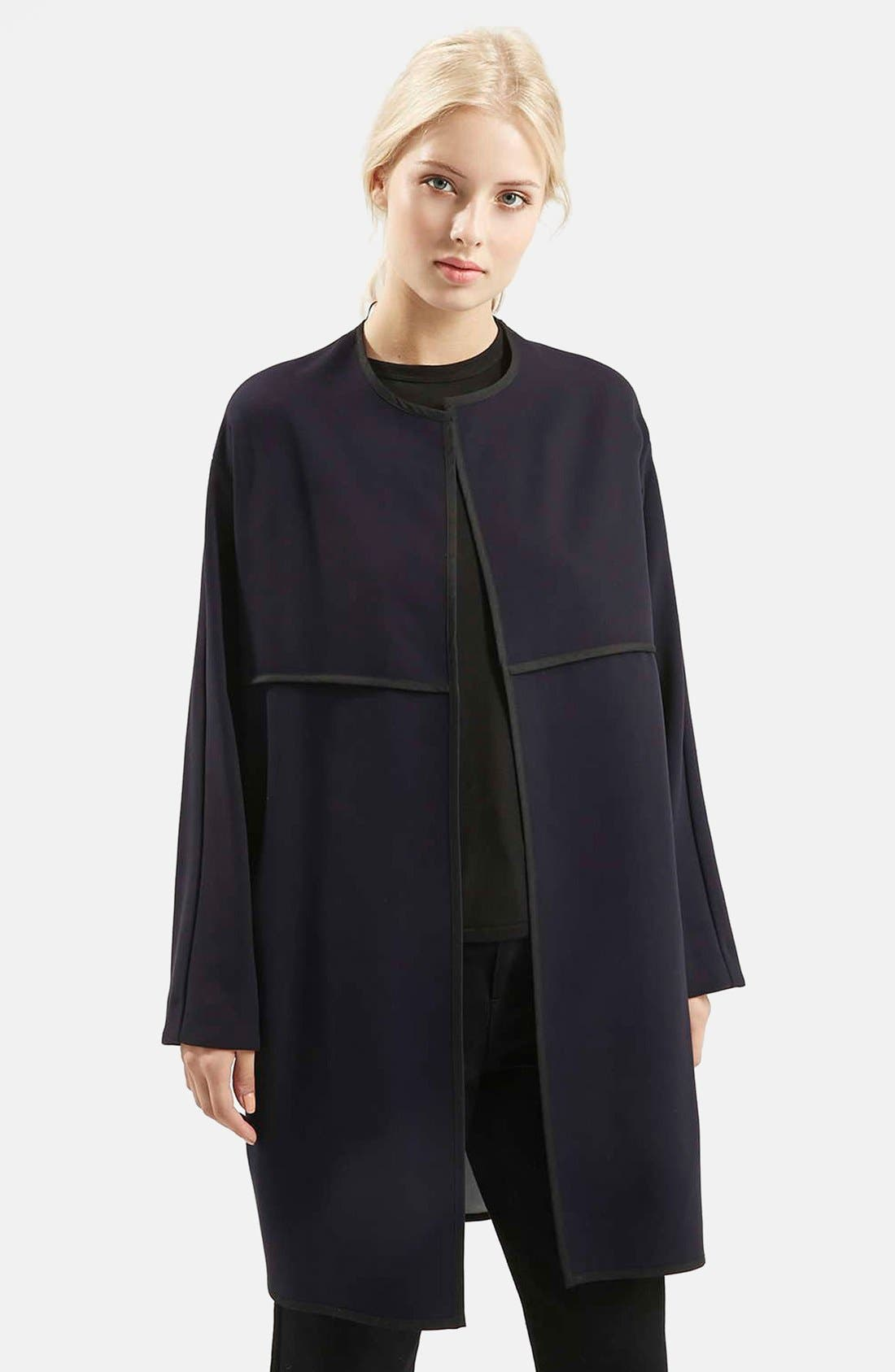 Alternate Image 1 Selected - Topshop 'Edge to Edge' Blanket Coat