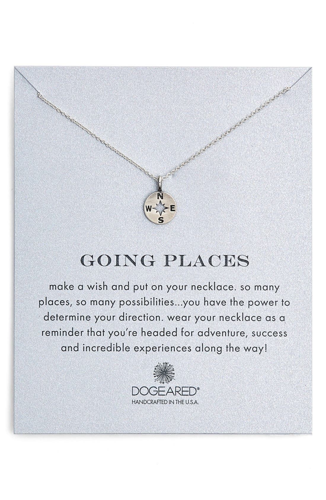 Alternate Image 1 Selected - Dogeared 'Going Places' Compass Pendant Necklace