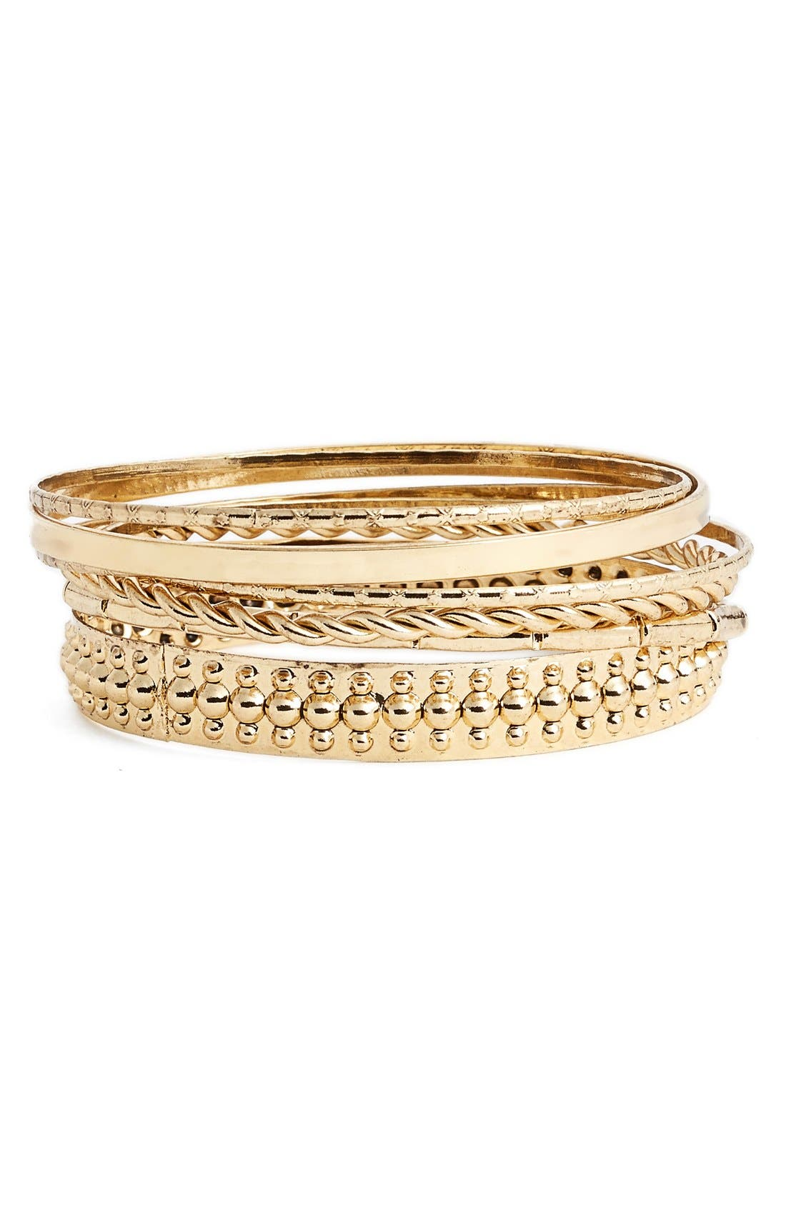 Alternate Image 1 Selected - BP. Textured Bangles (Set of 7)