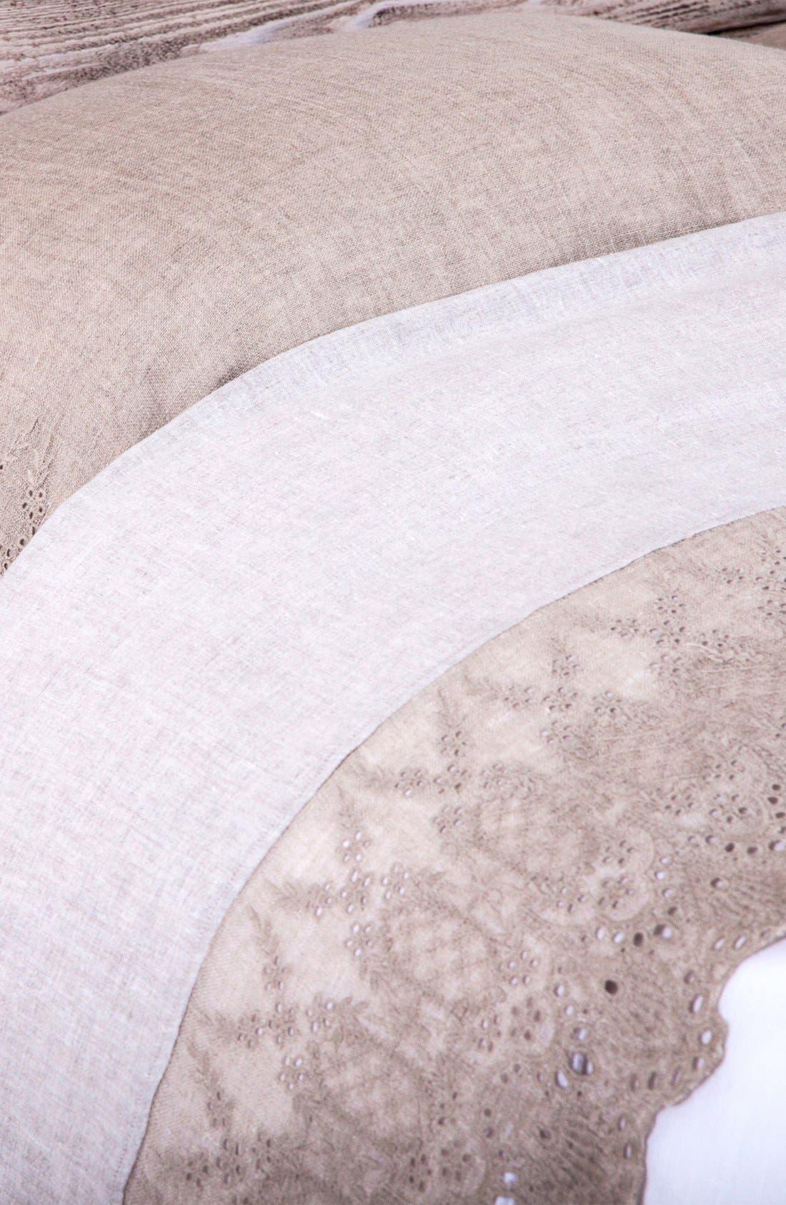 'Annabelle' Linen Flat Sheet,                         Main,                         color, Flax