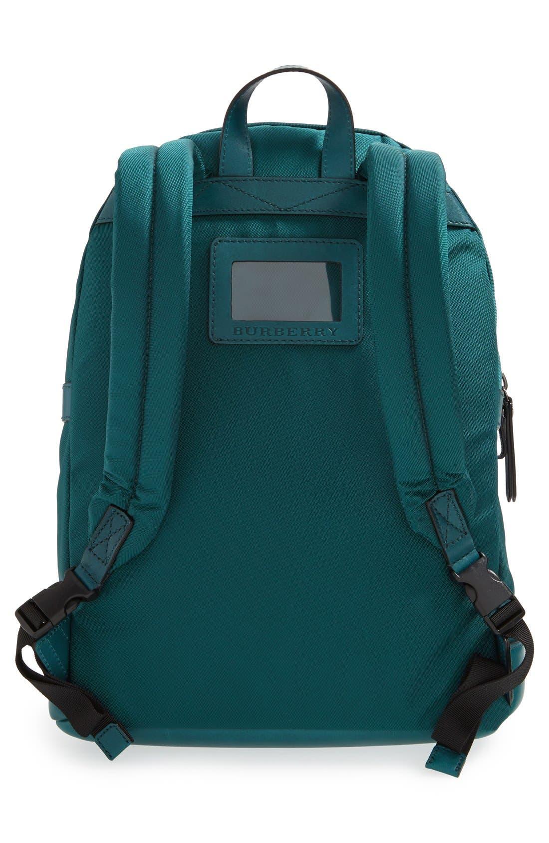 Alternate Image 2  - Burberry 'Tiller' Nylon & Leather Backpack (Kids)