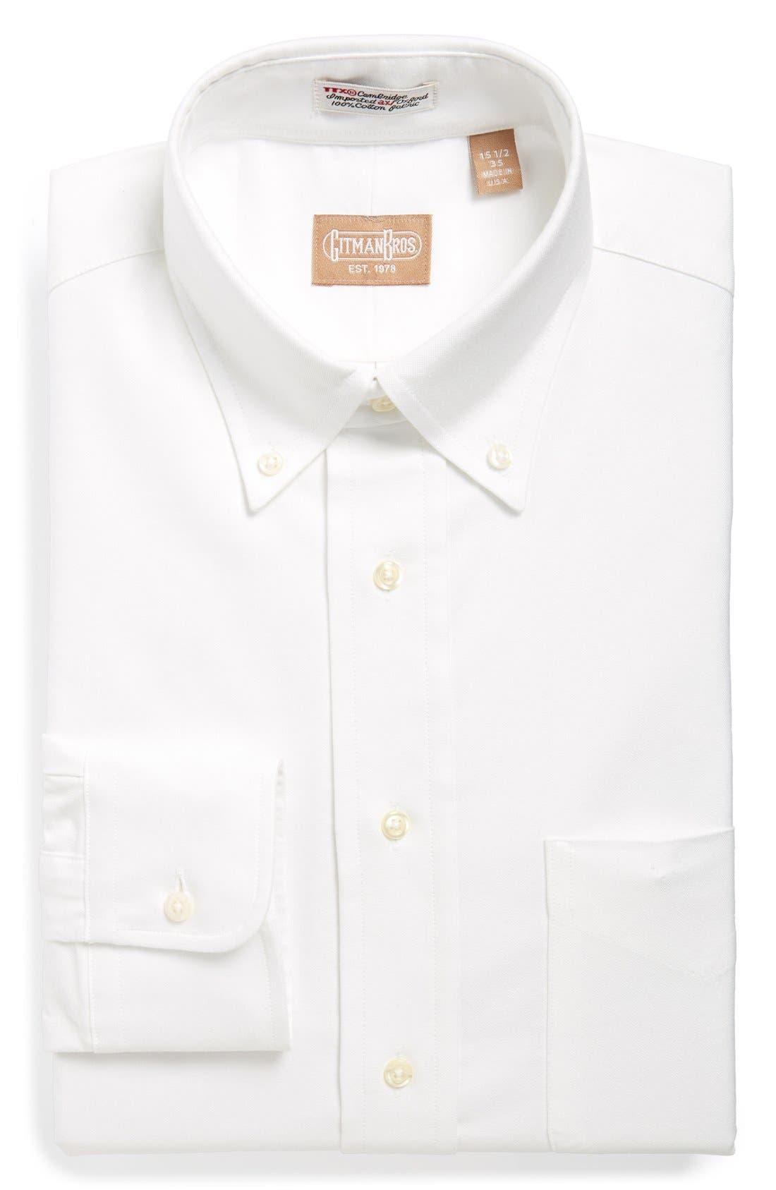 Gitman 'Cambridge Oxford' Regular Fit Dress Shirt