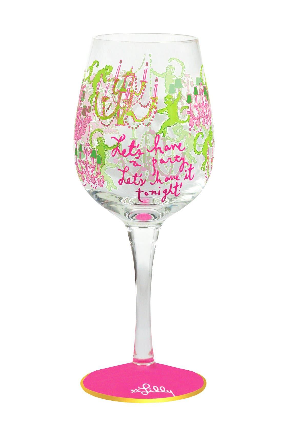 Main Image - Lilly Pulitzer® Wine Glass