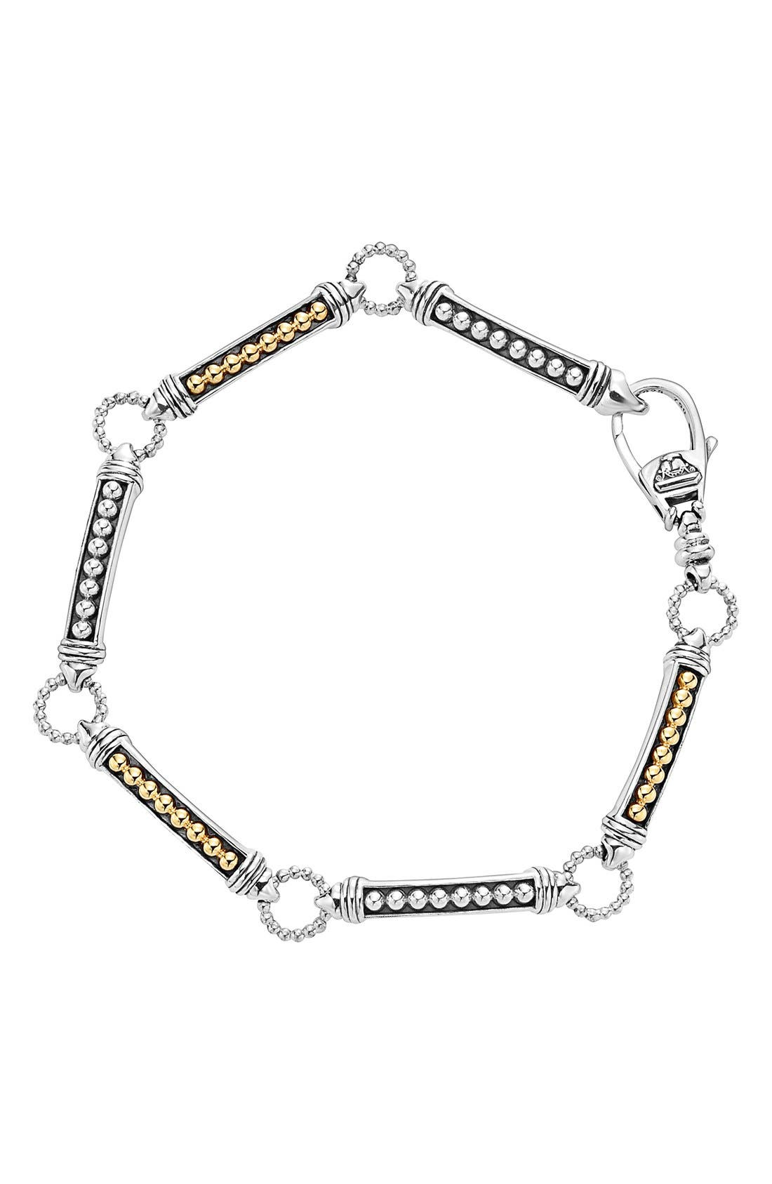 Main Image - LAGOS Caviar 'Superfine' Two-Tone Line Bracelet