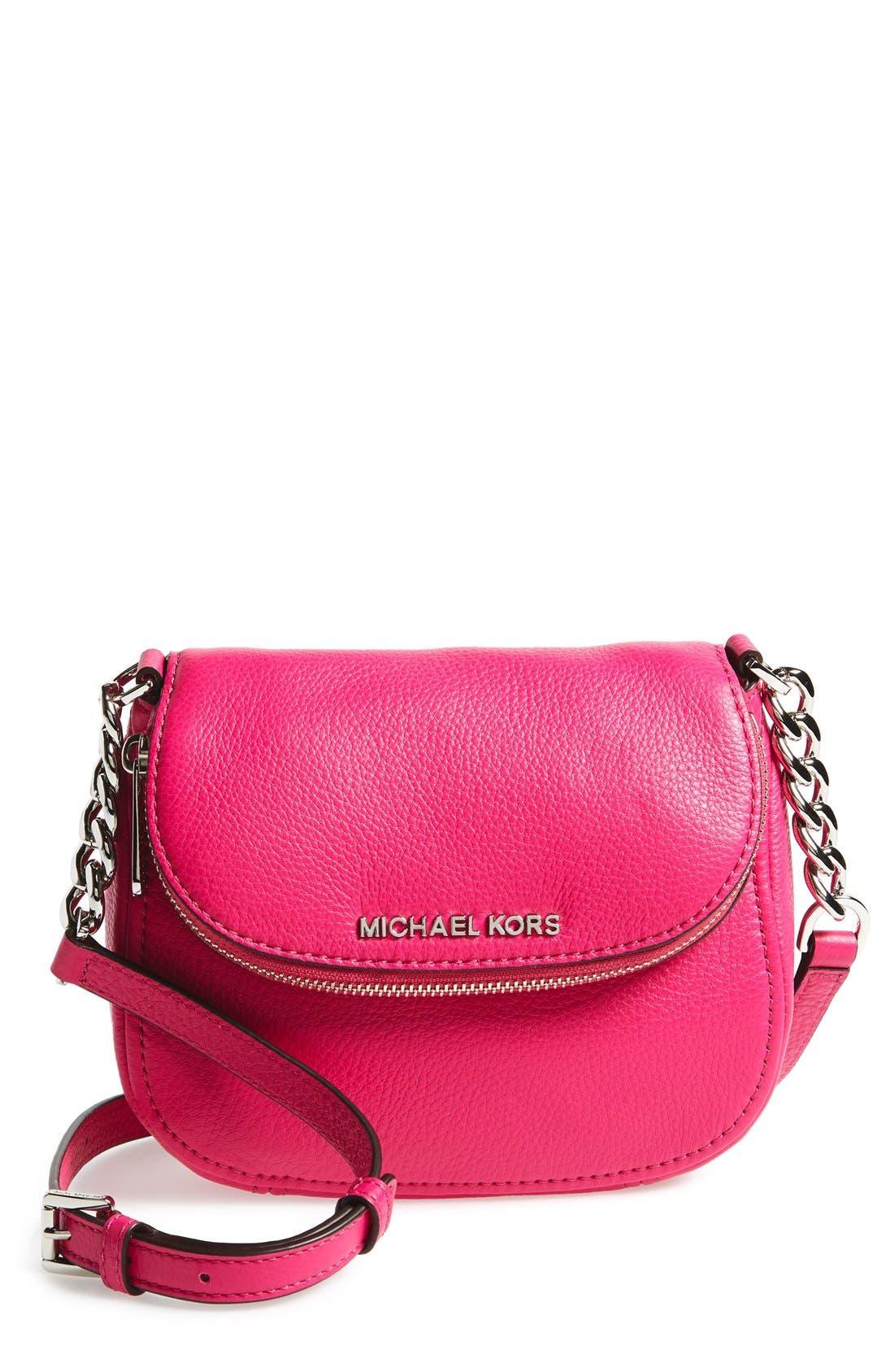 Alternate Image 1 Selected - MICHAEL Michael Kors 'Bedford' Leather Crossbody Bag