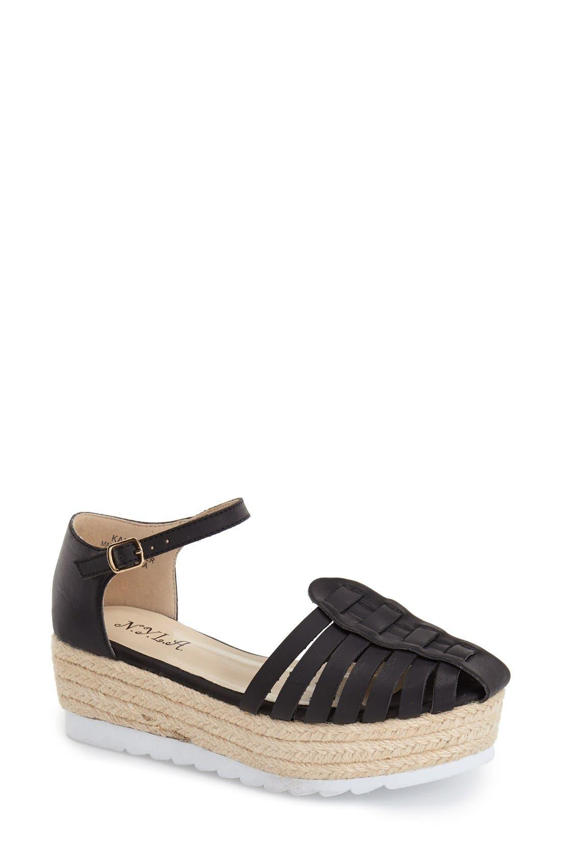 Alternate Image 1 Selected - N.Y.L.A. 'Kanen' Espadrille Platform Sandal (Women)
