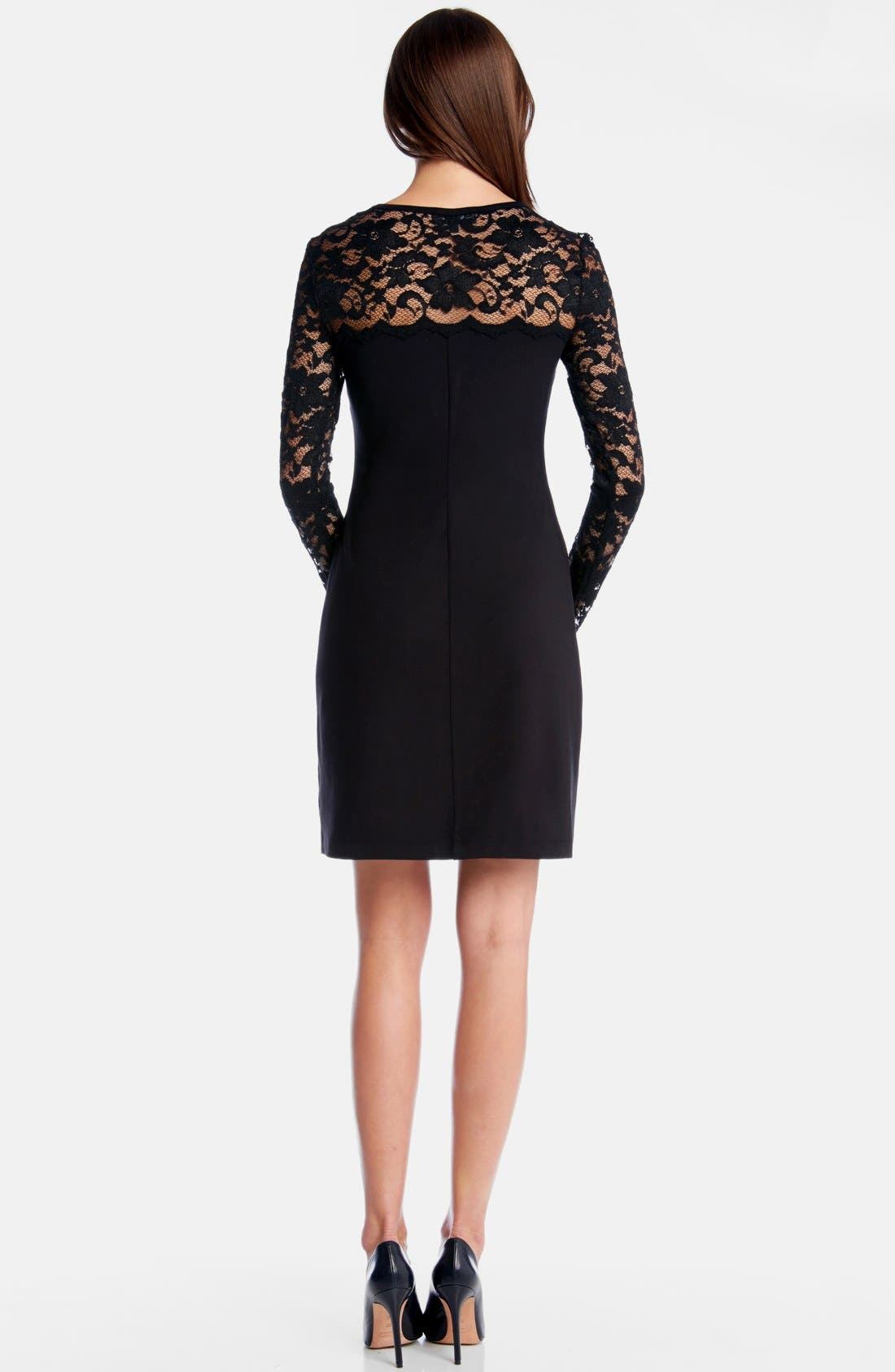 Alternate Image 2  - Karen Kane 'Blake' Lace Yoke Sheath Dress