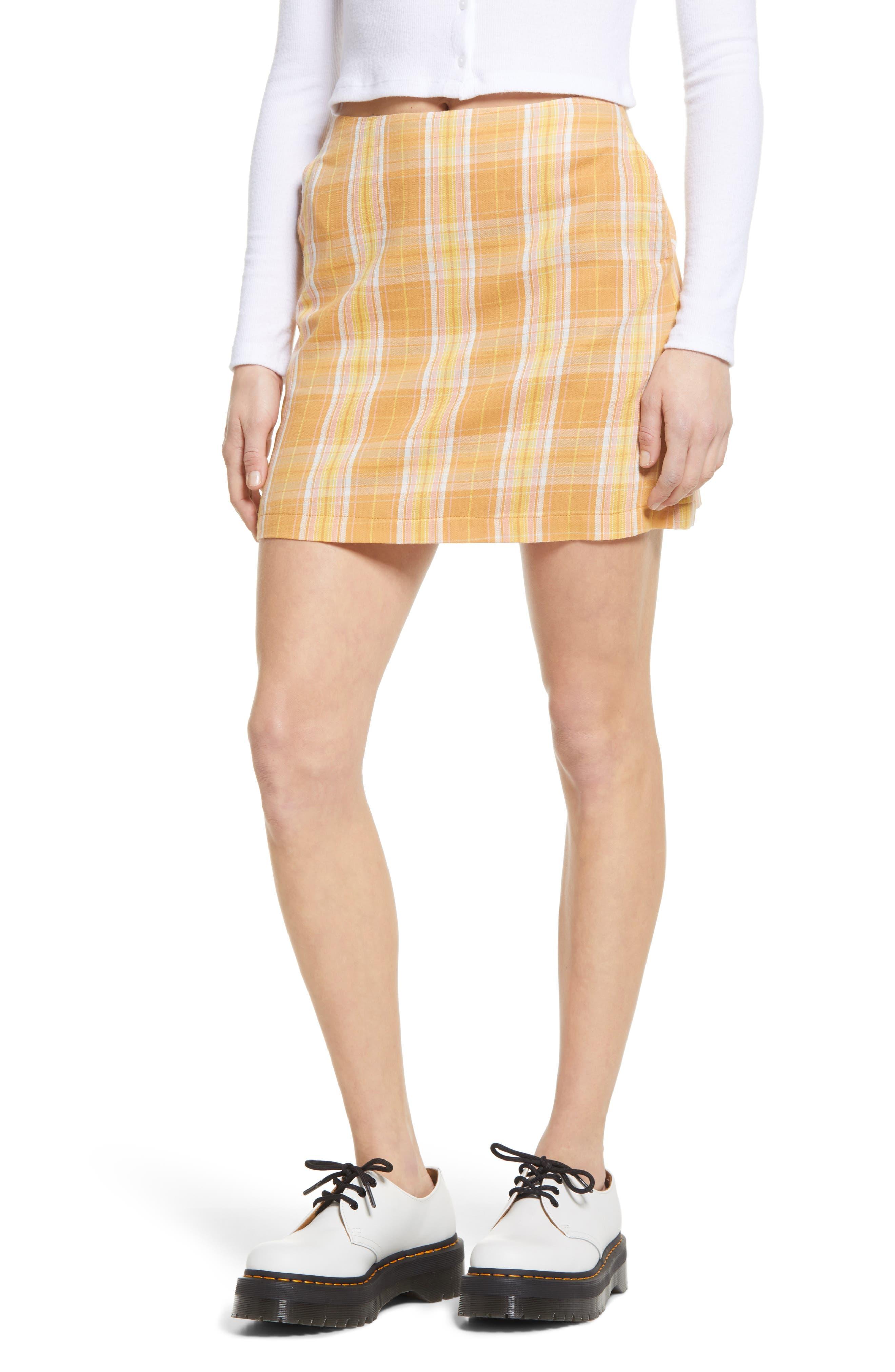 WOOL ALEX /& Co Vintage  Check Pattern Long Skirt