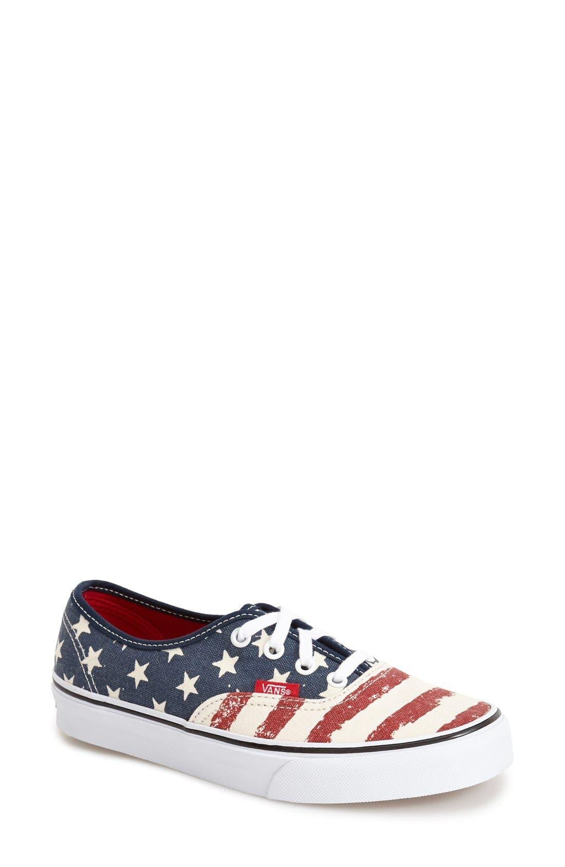 Alternate Image 1 Selected - Vans 'Authentic - Stars & Stripes' Sneaker (Women)