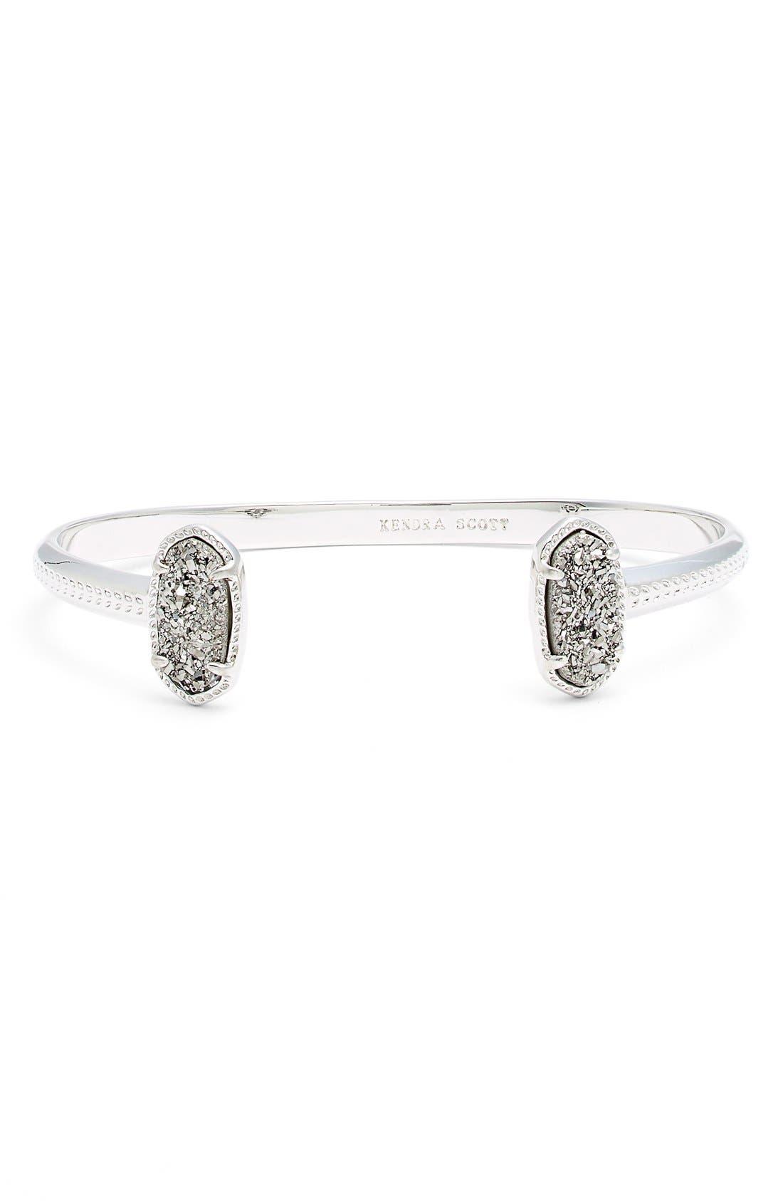 Elton Station Cuff Bracelet,                             Main thumbnail 1, color,                             Platinum Drusy/ Silver