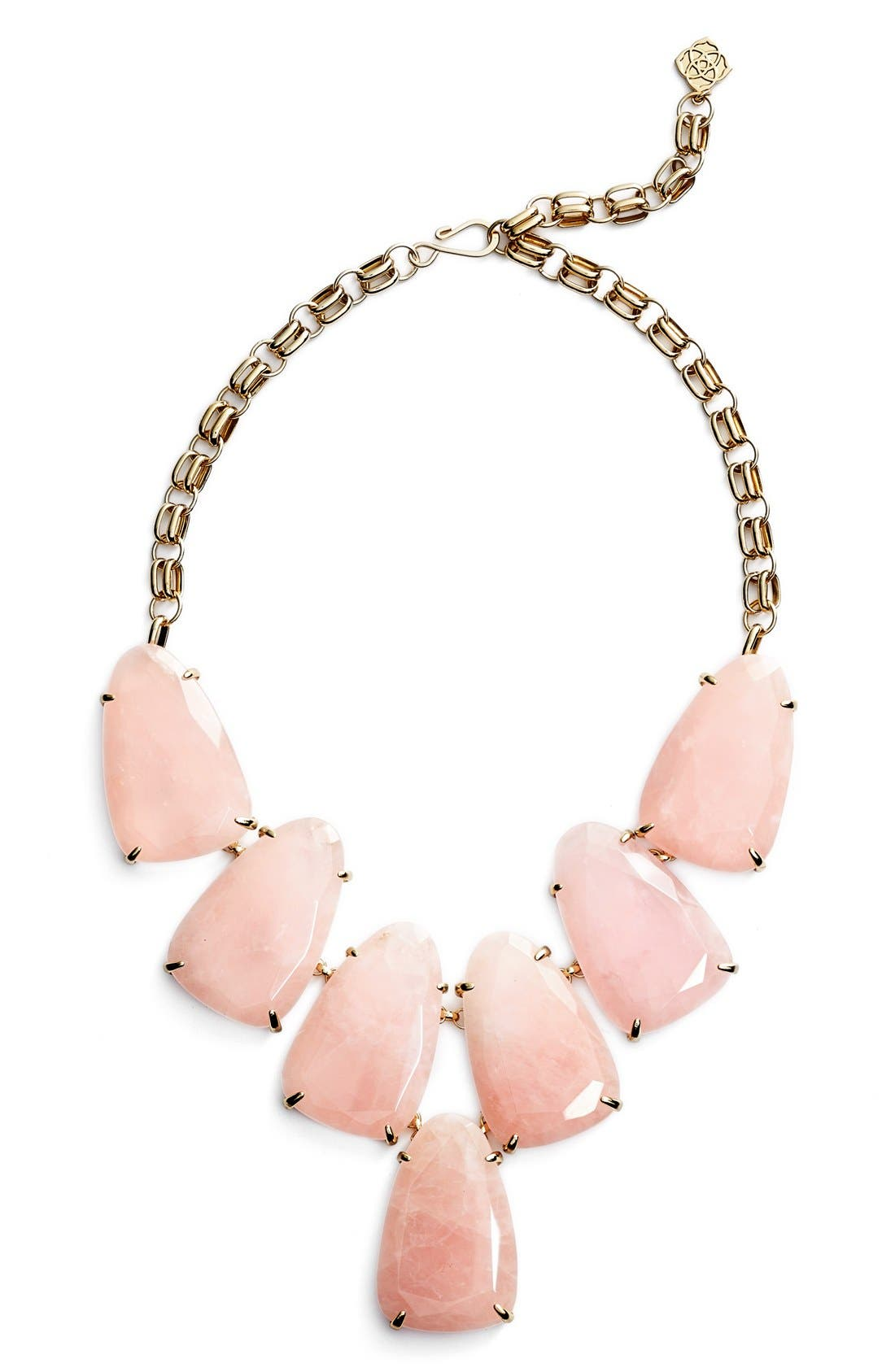 Harlow Necklace,                         Main,                         color, Rose Quartz/ Gold