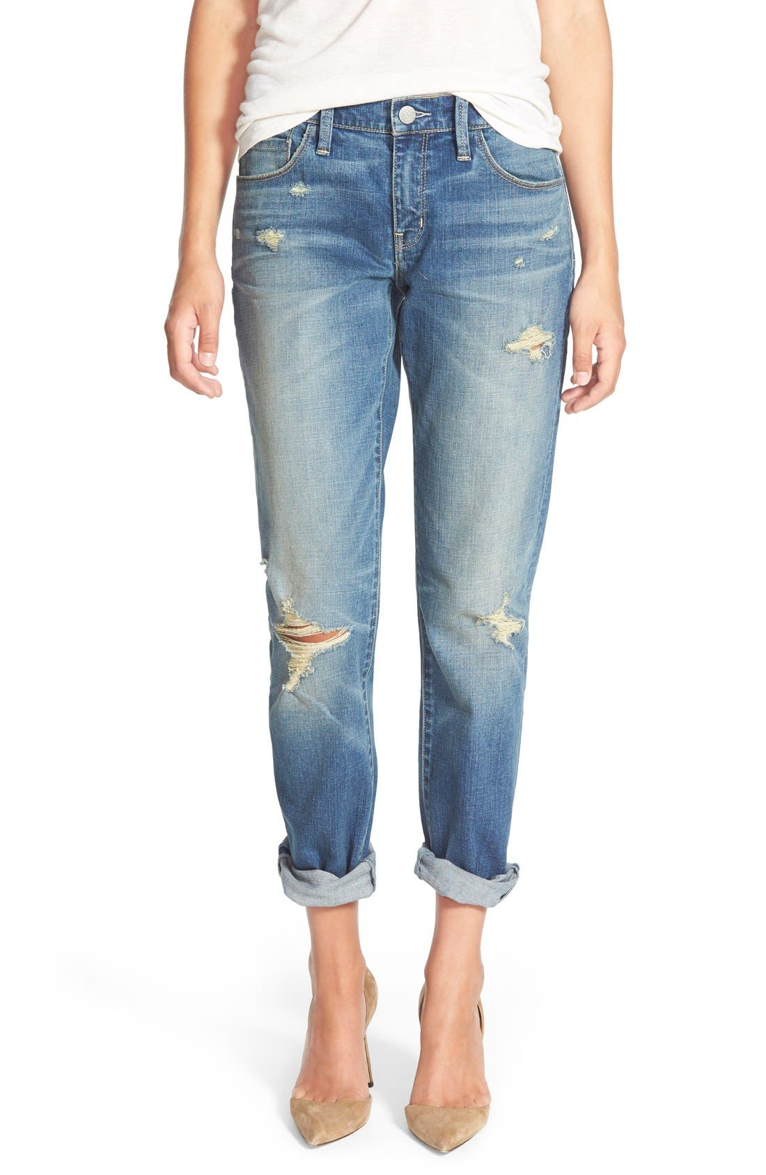 Treasure&Bond Boyfriend Jeans,                         Main,                         color, Cross Light Tint