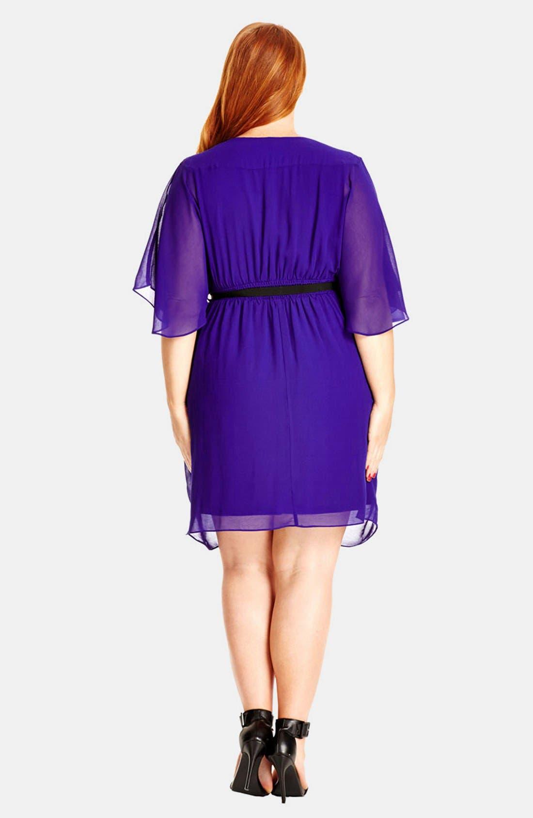 Alternate Image 2  - City Chic 'Colour Wrap' Surplice Dress (Plus Size)