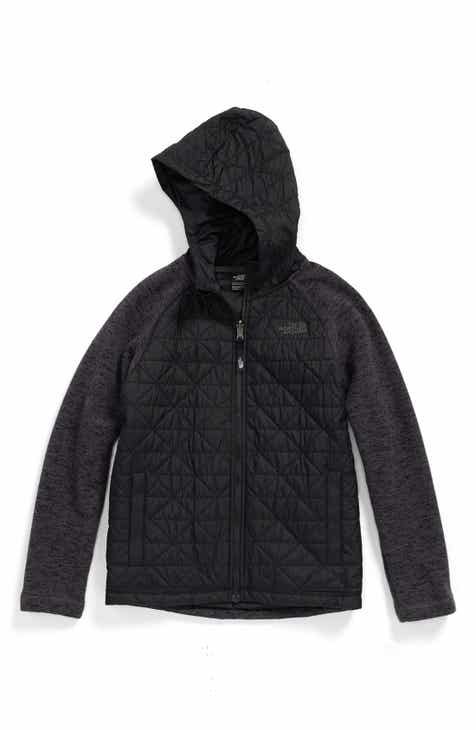 a4a94d07dcea4 The North Face Quilted Sweater Fleece Jacket (Big Boys)