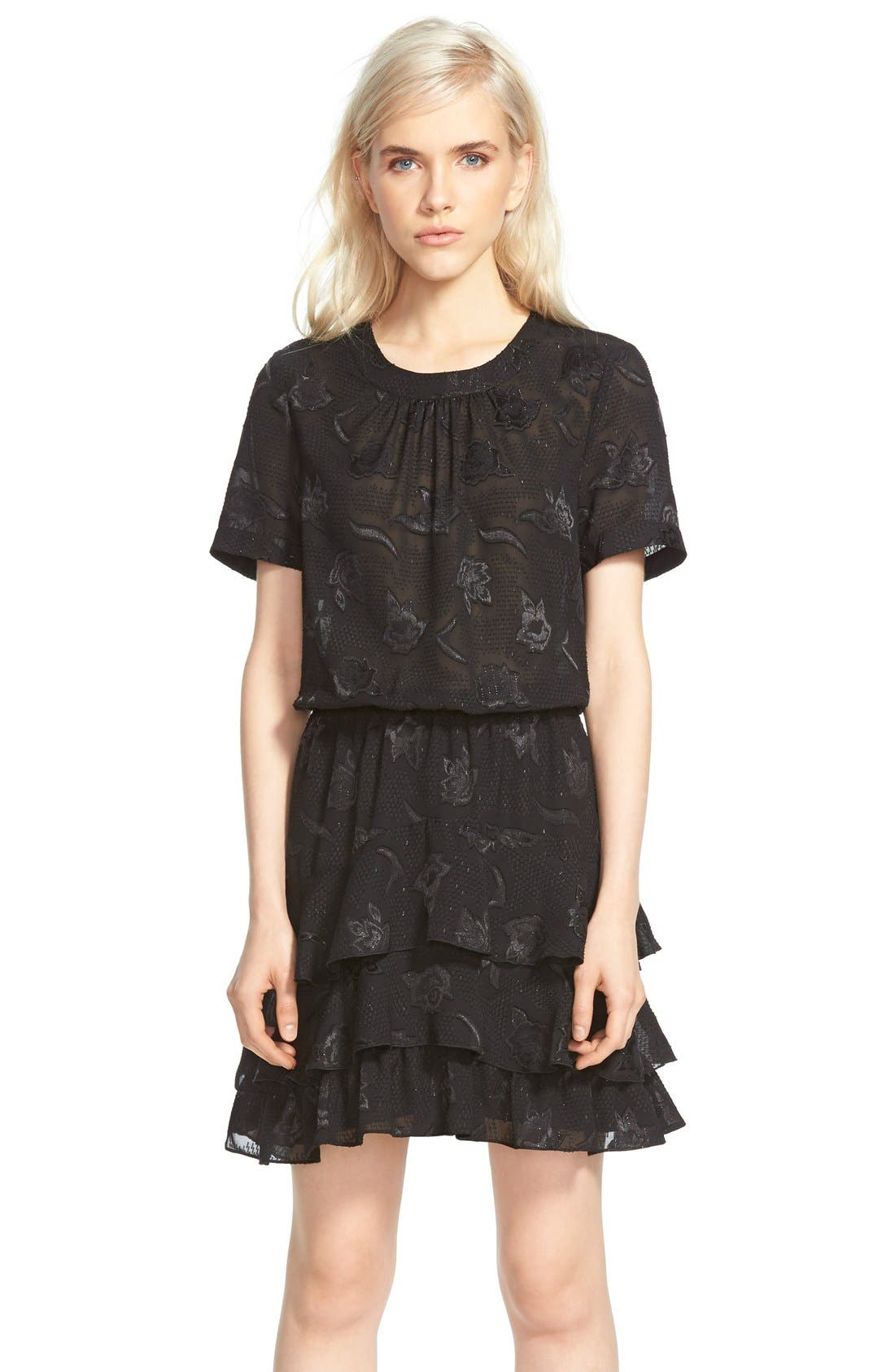 Alternate Image 3  - cooper & ella 'Phoebe' Ruffle Blouson Dress