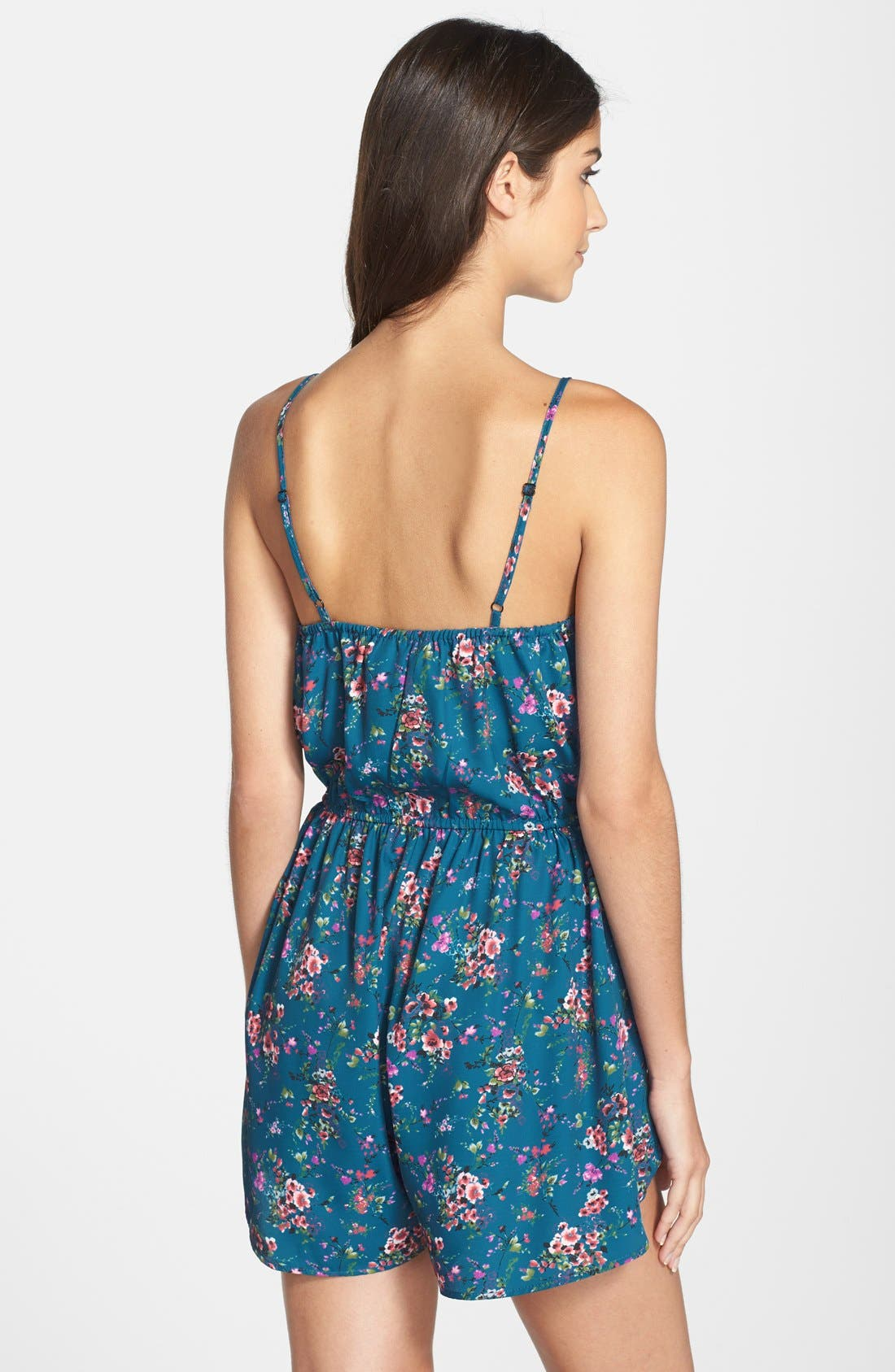 Alternate Image 2  - Band of Gypsies Floral Print Romper