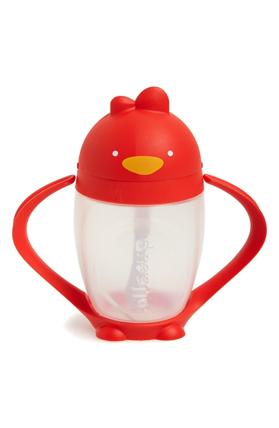 'Lollacup' Sippy Cup,                         Main,                         color, Bold Red