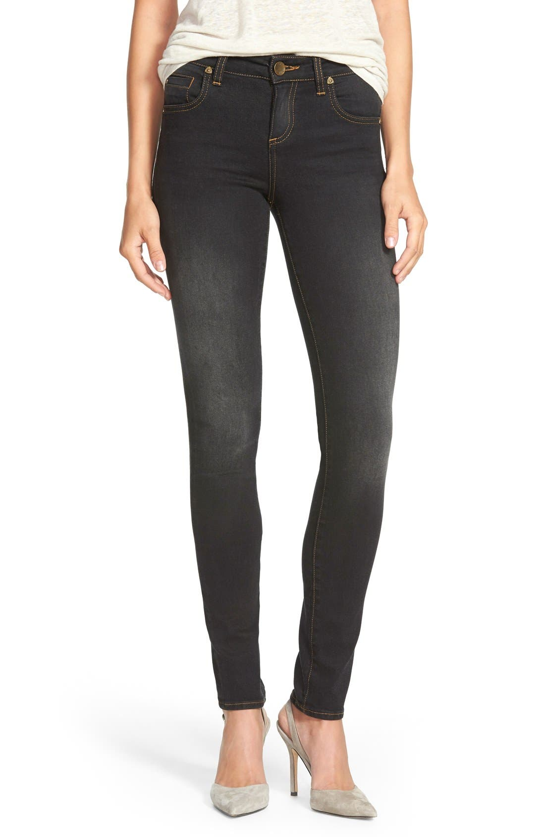 Alternate Image 1 Selected - KUT from the Kloth 'Diana' Stretch Skinny Jeans (Black) (Regular & Petite)
