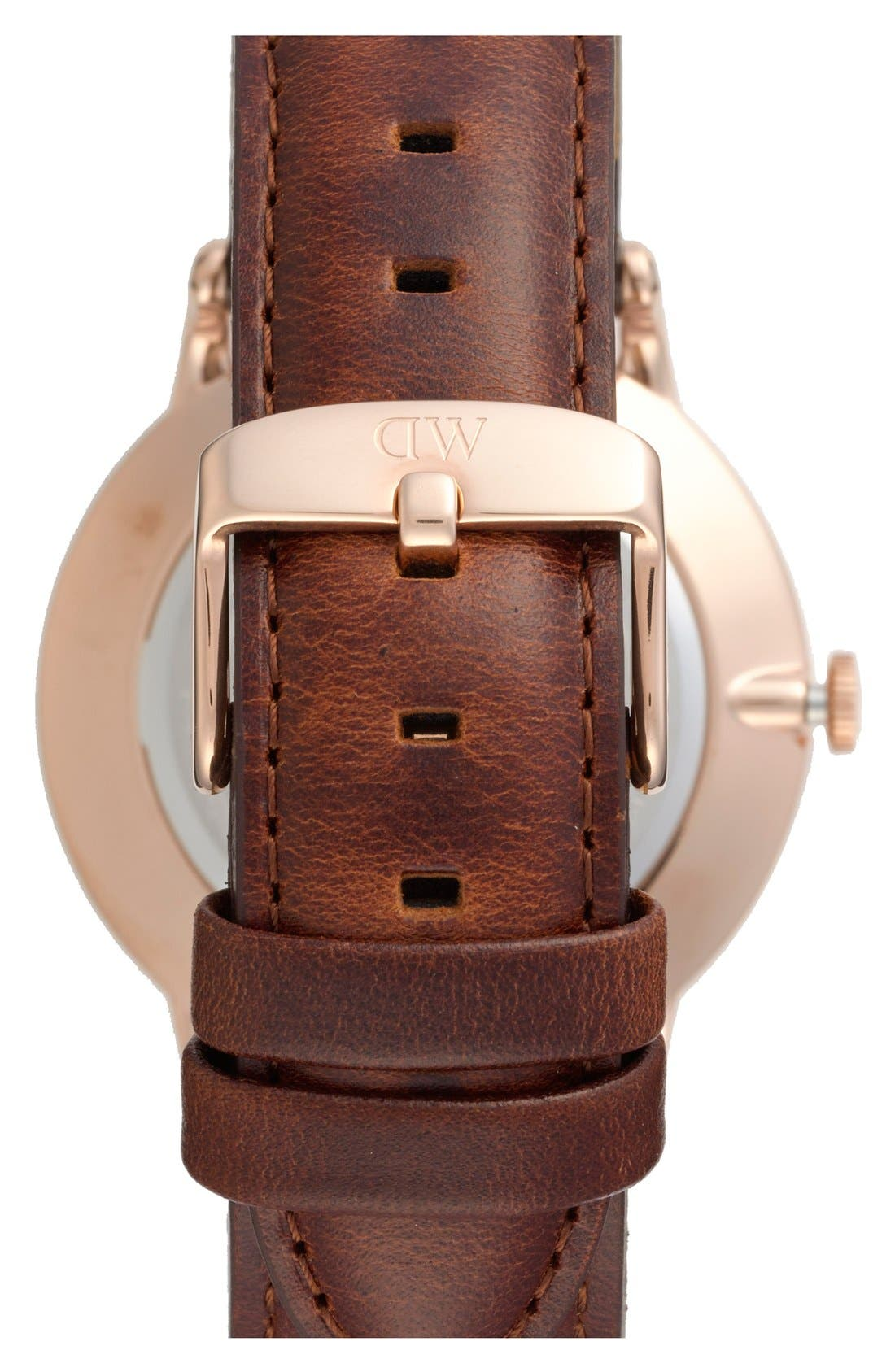 Alternate Image 2  - Daniel Wellington 'Dapper St. Mawes' Leather Strap Watch, 38mm