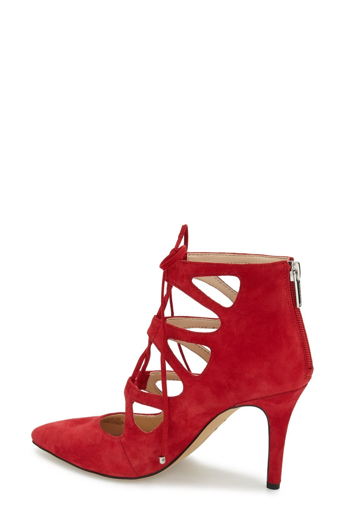 'Bodell' Lace Up Pump,                             Alternate thumbnail 2, color,                             Love Affair Suede