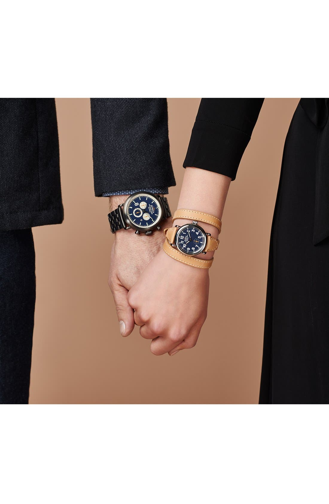 Alternate Image 8  - Shinola 'The Runwell Contrast Chrono' Bracelet Watch, 47mm