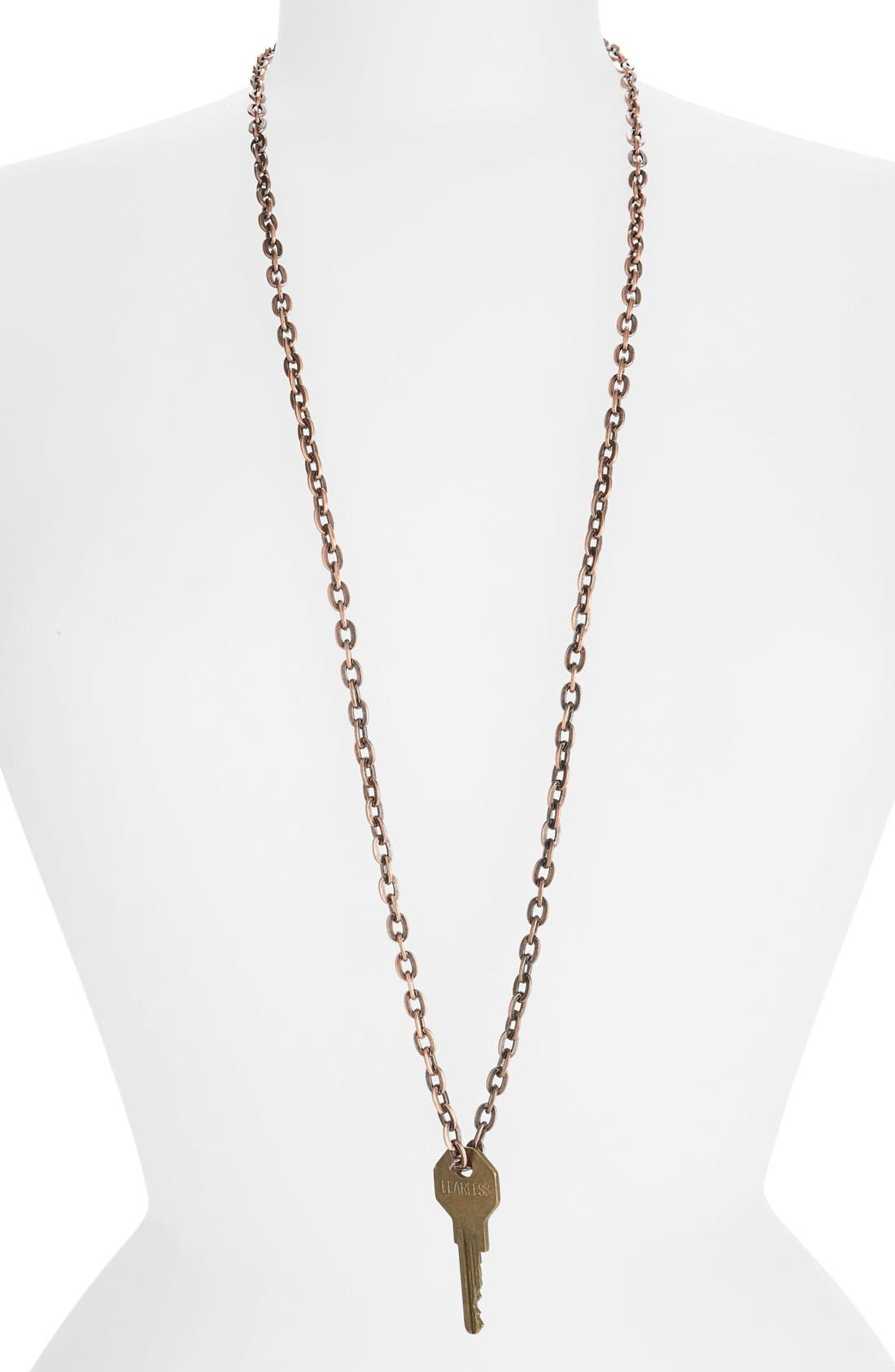 Alternate Image 1 Selected - The Giving Keys 'Love' Copper Chain Key Pendant Necklace