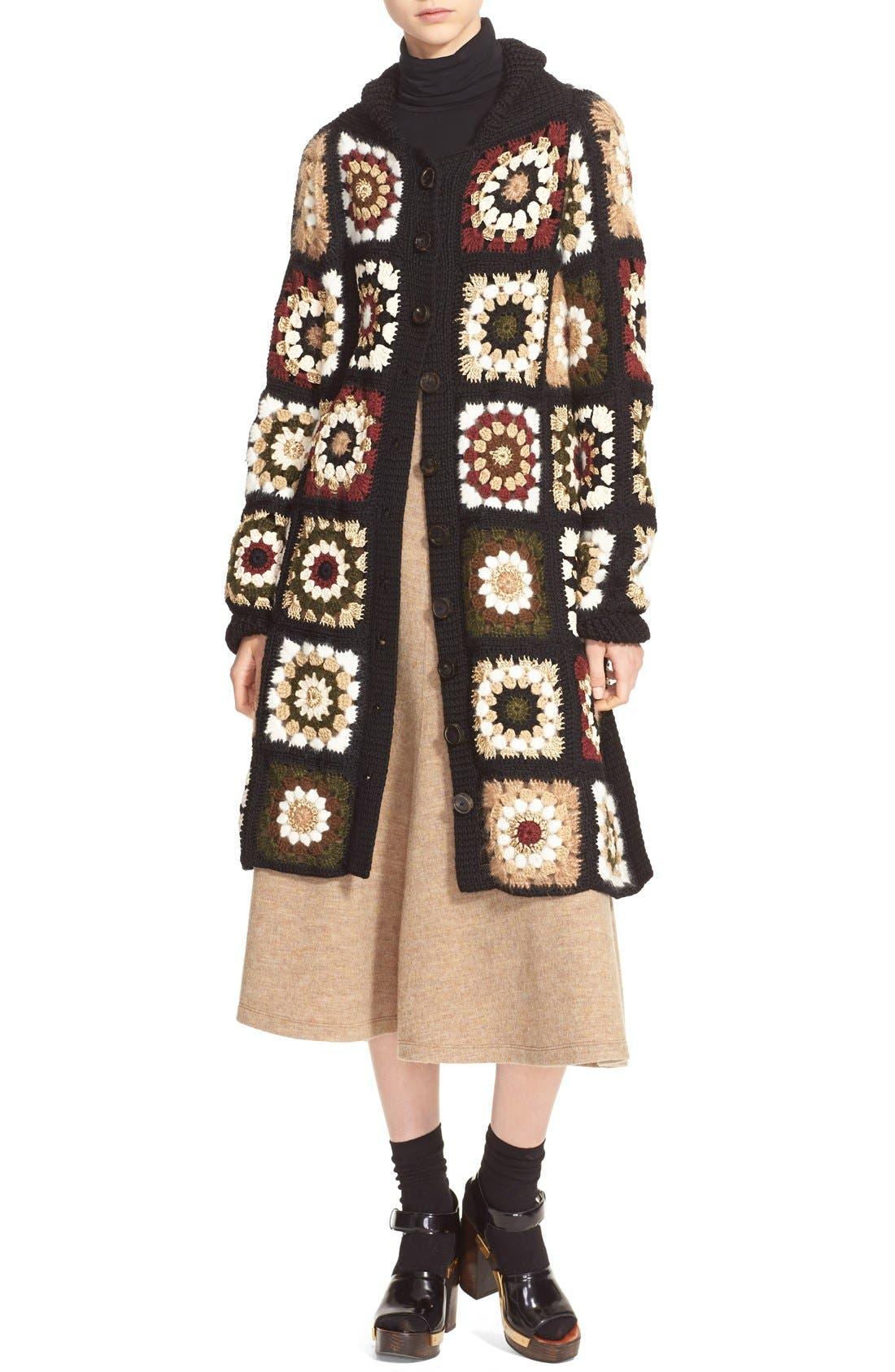 Alternate Image 5  - Rosetta Getty 'Granny Square' Mixed Media Cardigan