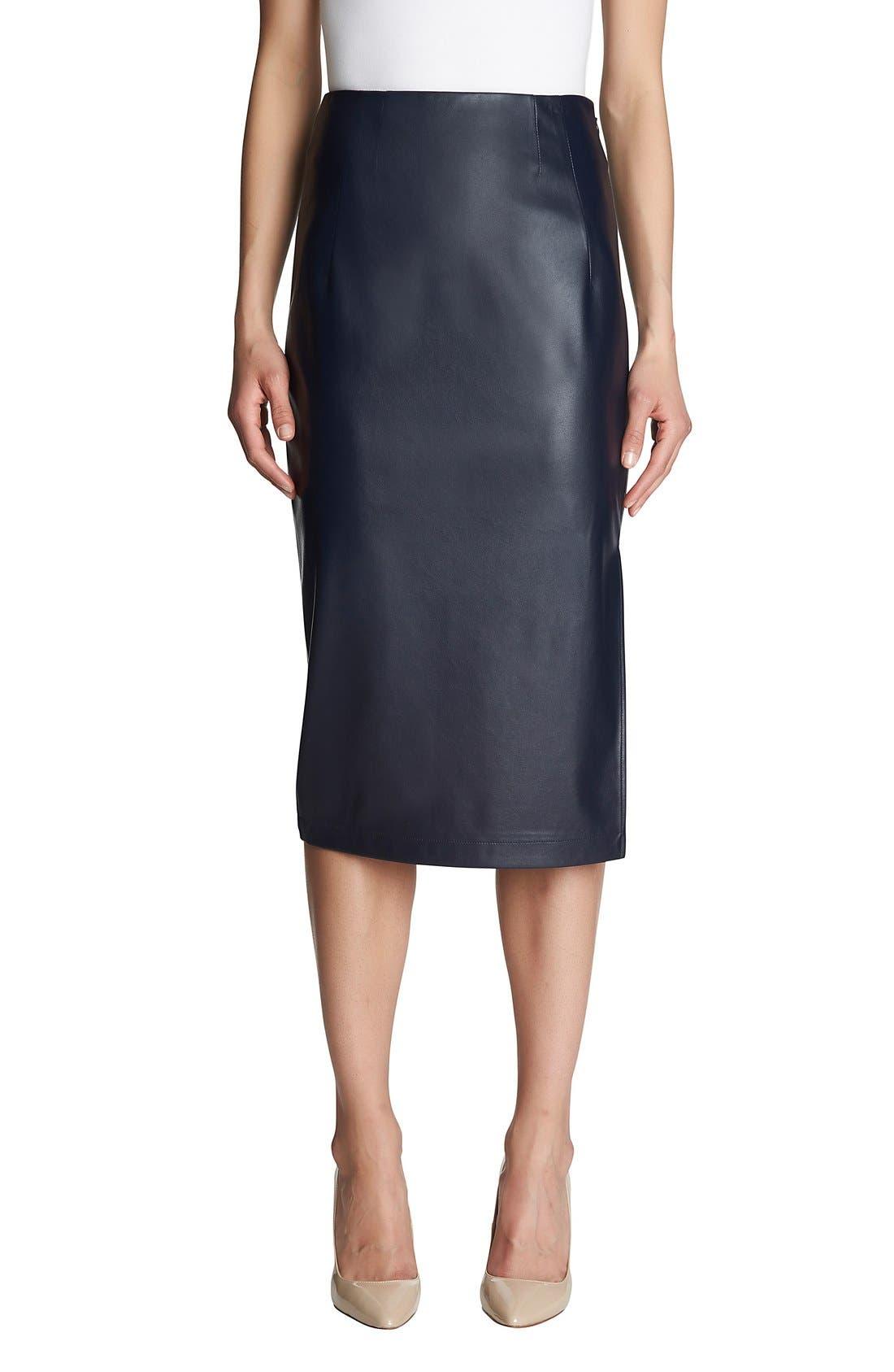 Alternate Image 1 Selected - 1.STATE Mixed Media Midi Pencil Skirt