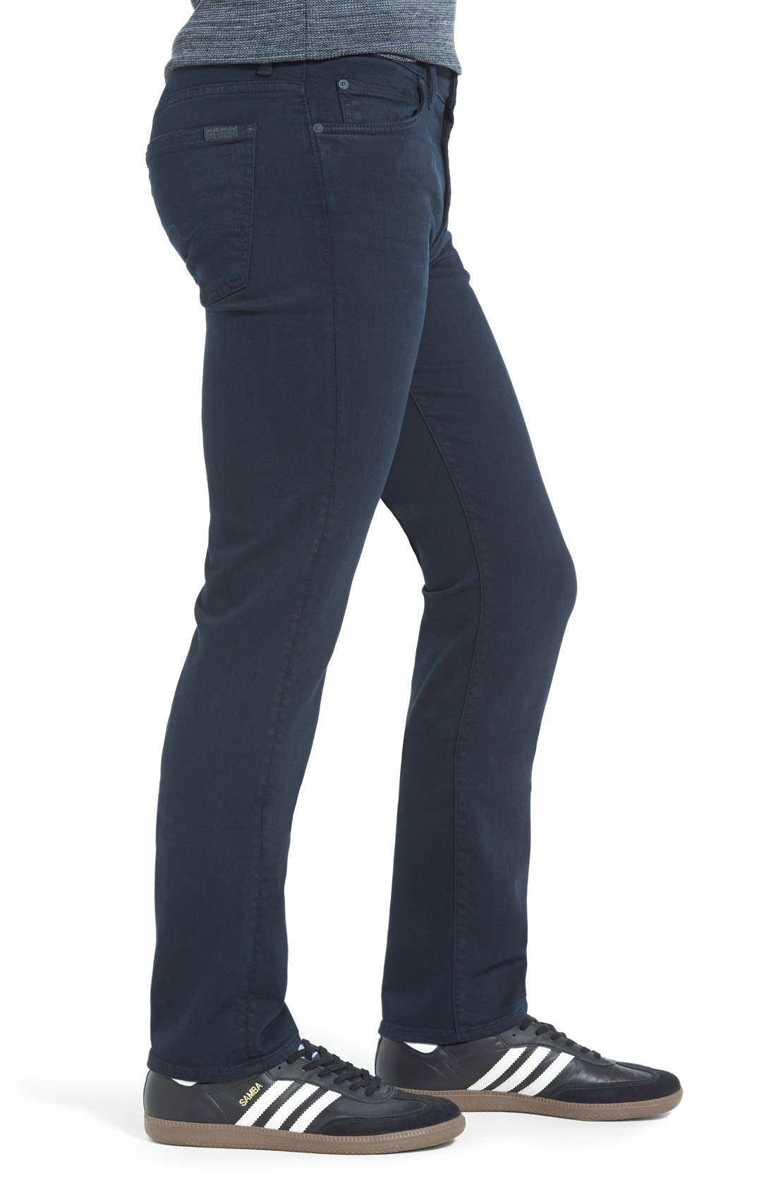 Alternate Image 4  - 7 For All Mankind® 'Slimmy - Luxe Performance' Slim Fit Jeans (Night Navy)