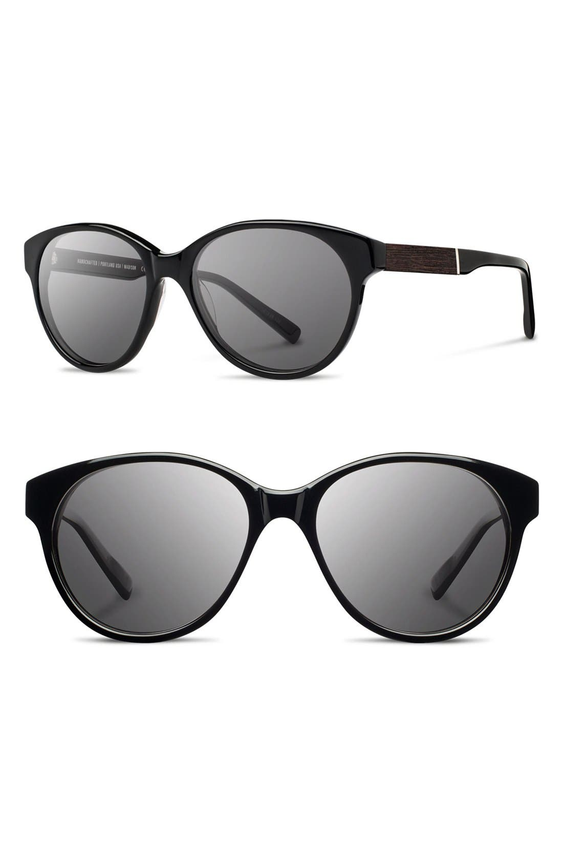 SHWOOD Madison 54mm Round Sunglasses