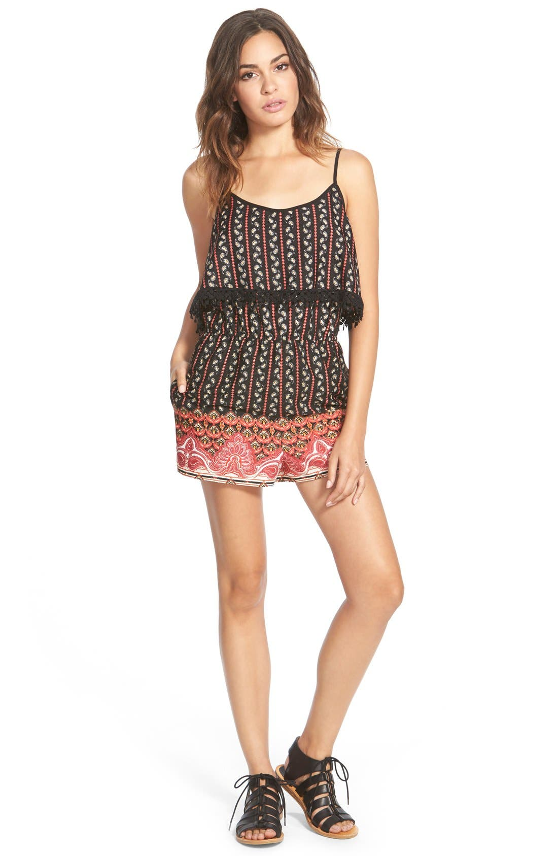 Alternate Image 1 Selected - Zoe and Rose Popover Print Romper