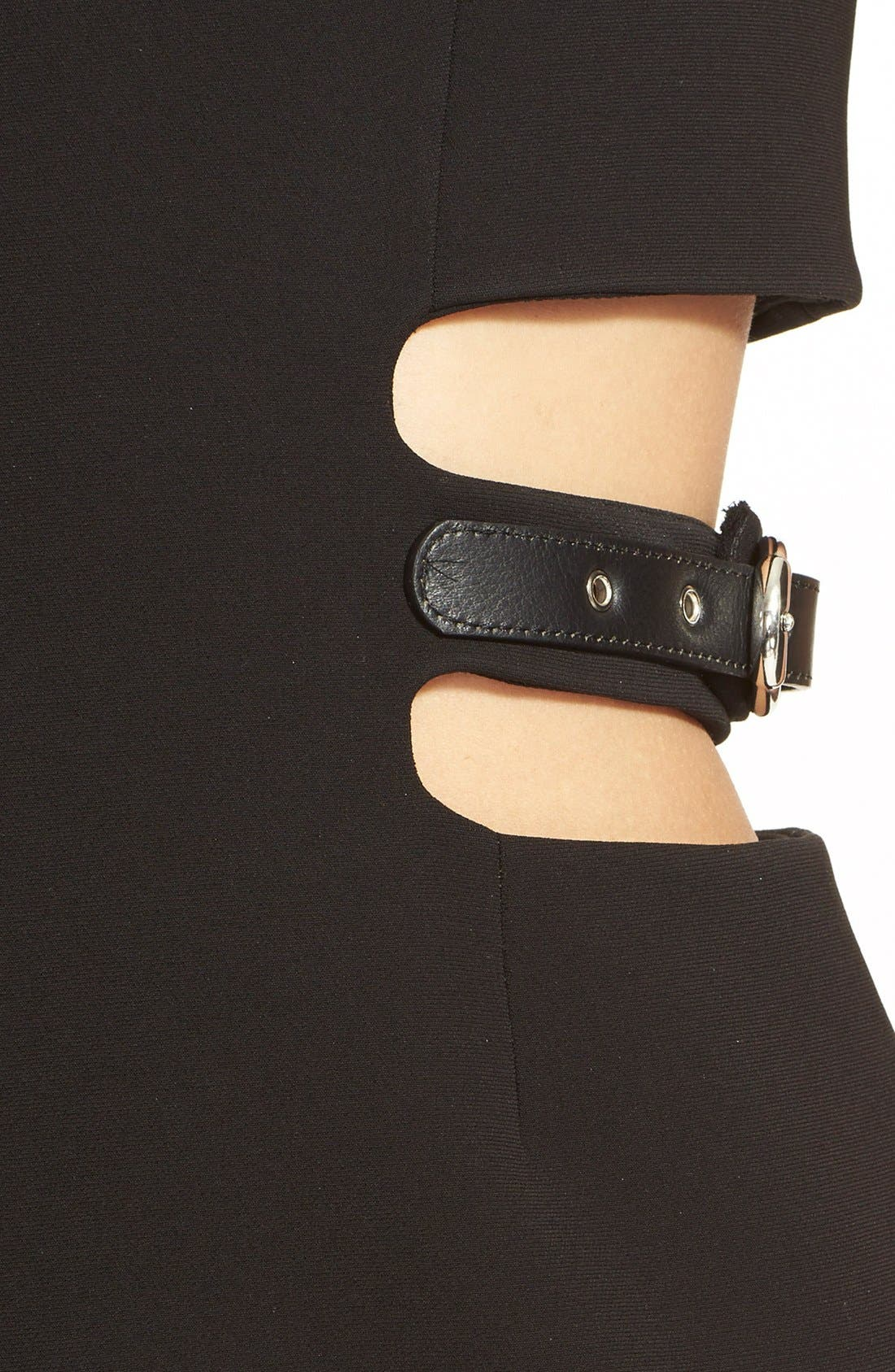 Alternate Image 3  - Anthony Vaccarello Sleeveless Side Cutout Sheath with Grommet Pleated Panel