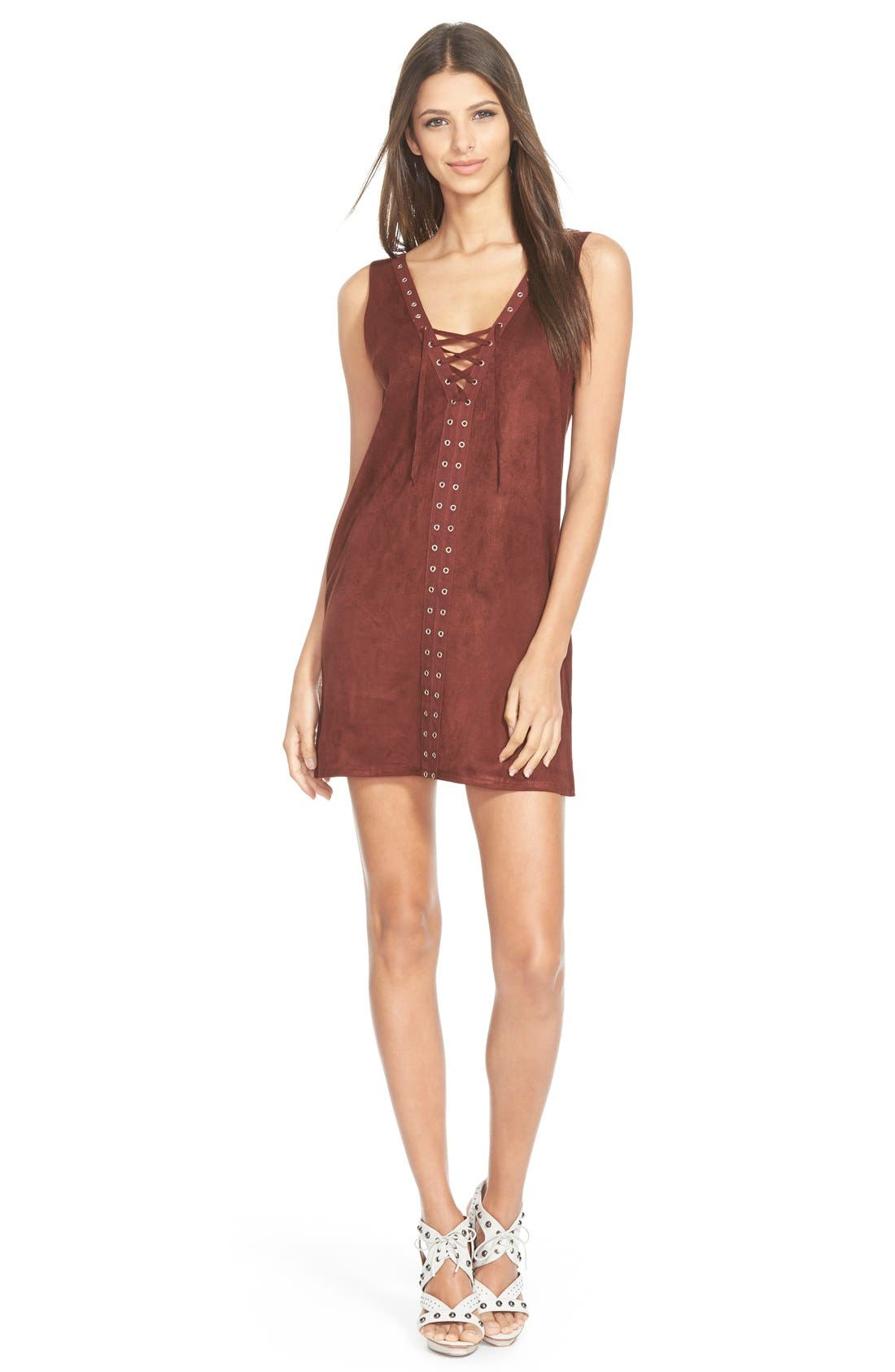 Main Image - Missguided Faux Suede Minidress