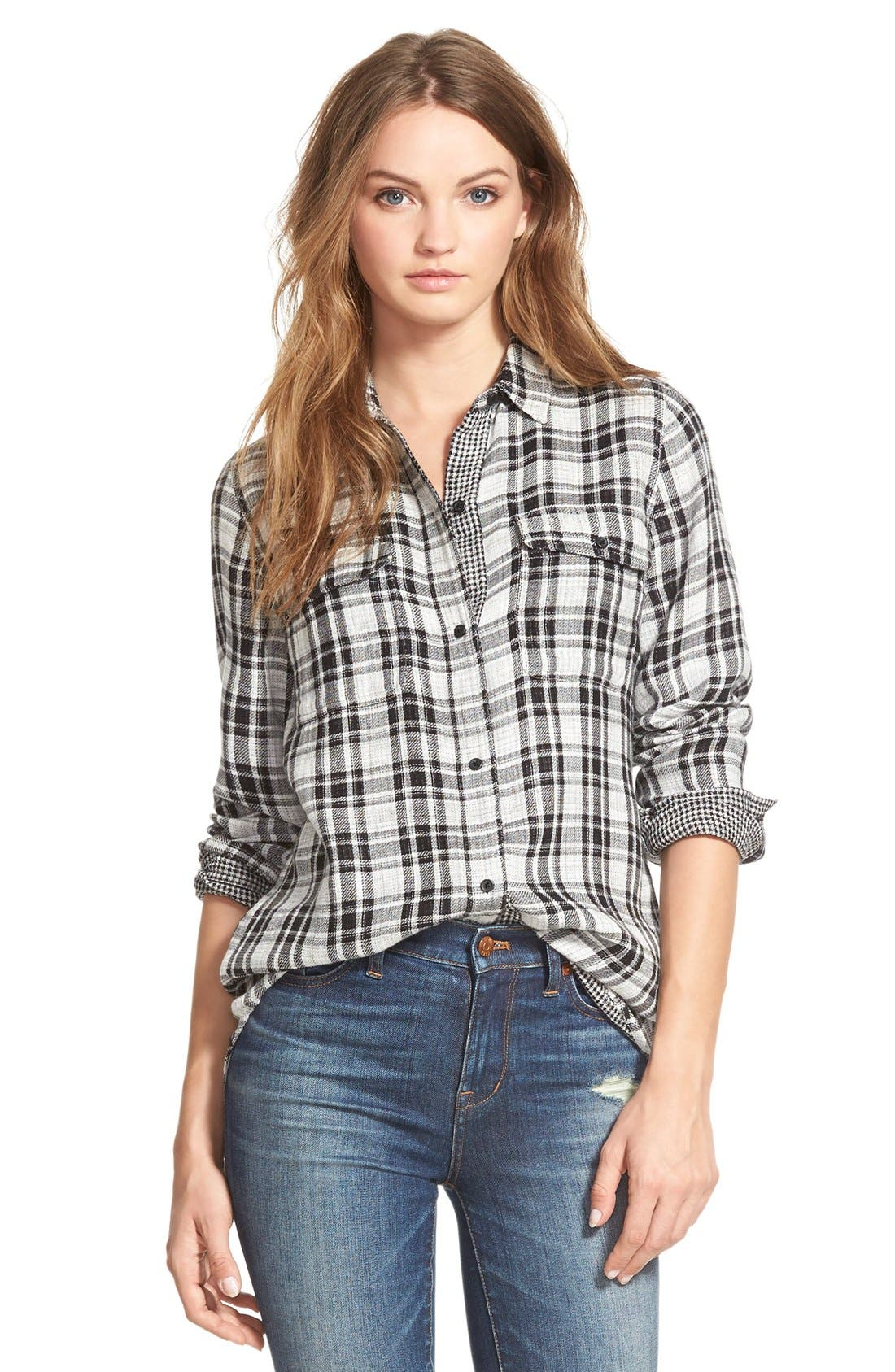 Alternate Image 1 Selected - Madewell 'Kemp Plaid' Ex-Boyfriend Shirt