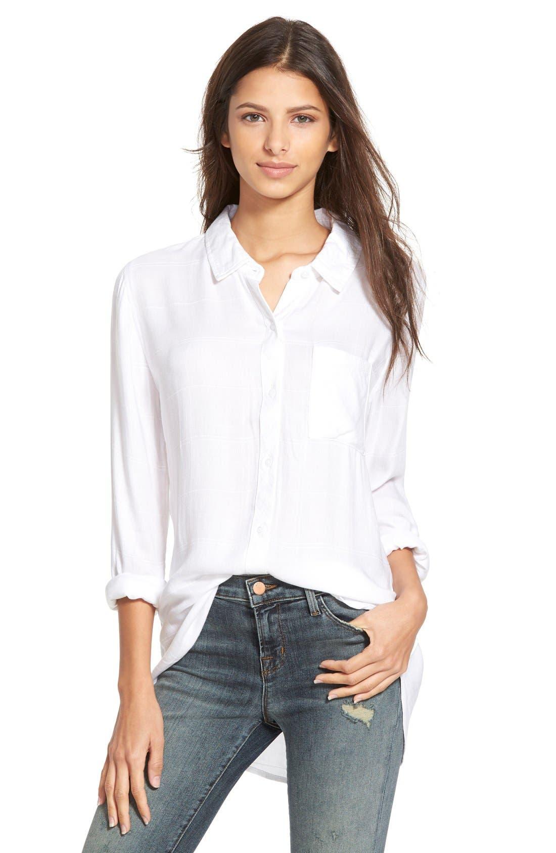Hunter Plaid Shirt,                         Main,                         color, White