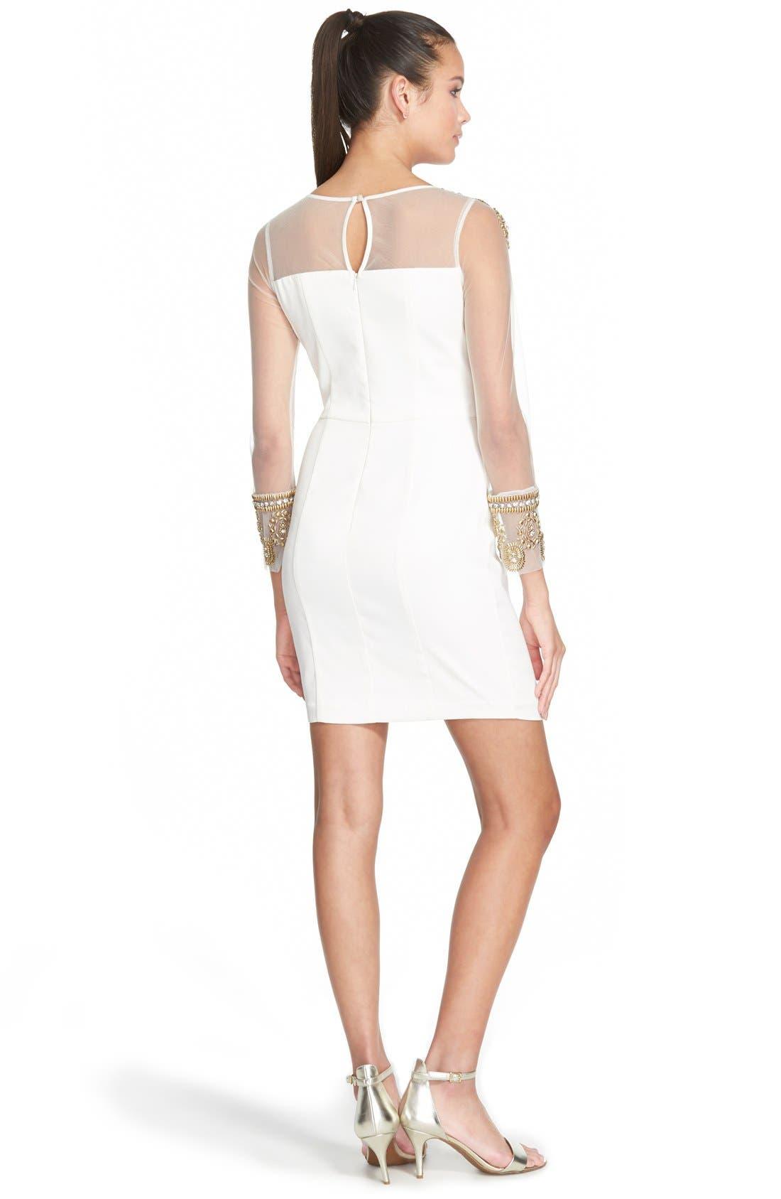 Alternate Image 2  - a. dreaEmbellished Illusion Body-Con Dress