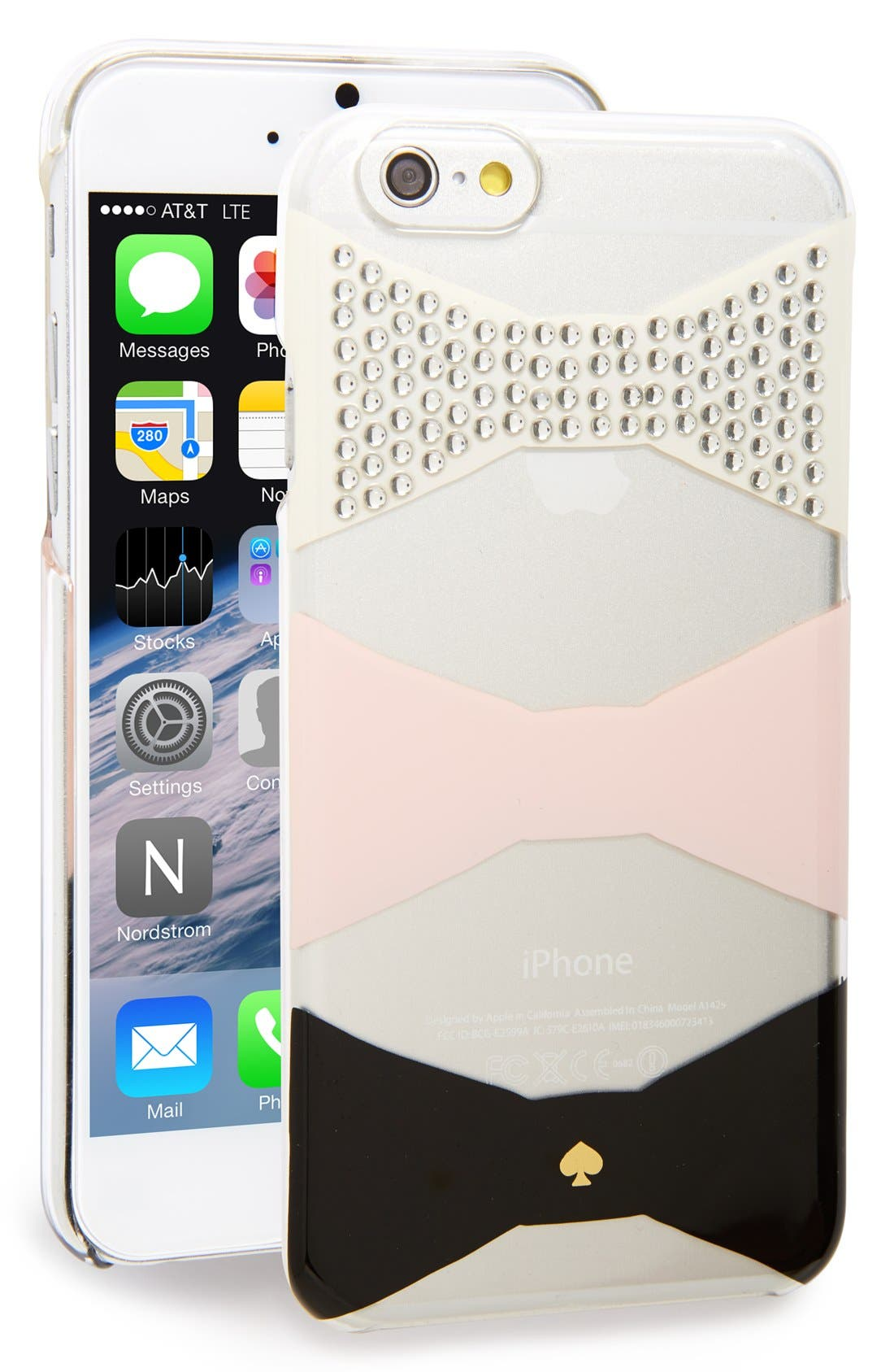 Alternate Image 1 Selected - kate spade new york 'bow tiles' iPhone 6 & 6s case