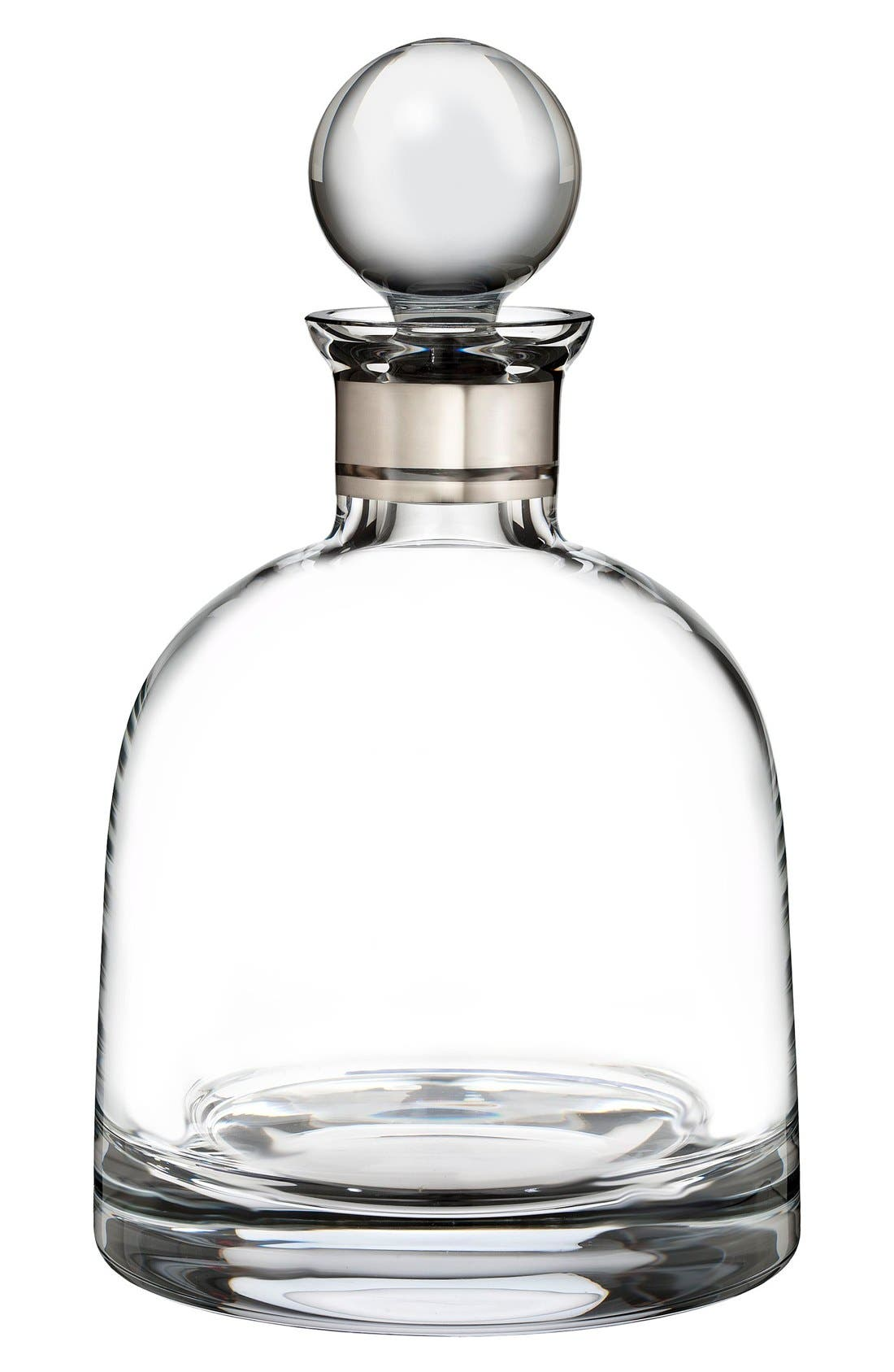 'Elegance' Fine Crystal Decanter & Stopper,                         Main,                         color, Clear
