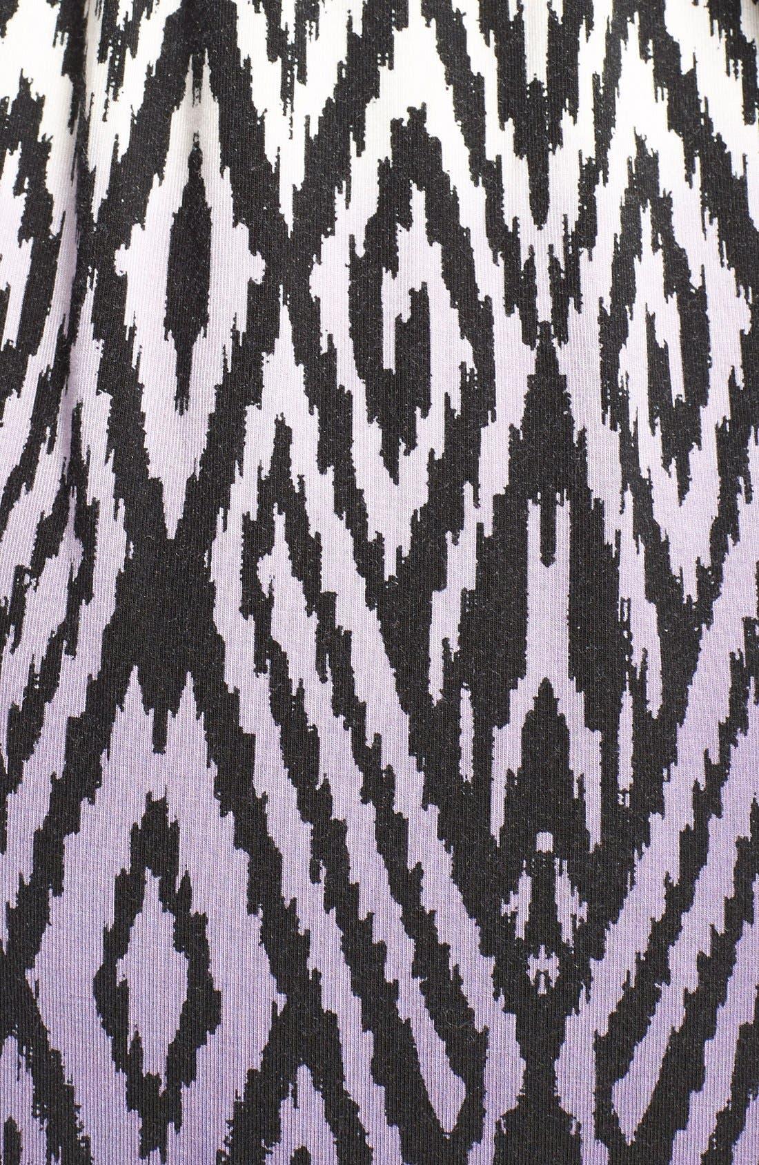 'Rhiannon' Turtleneck Fit & Flare Maternity Dress,                             Alternate thumbnail 3, color,                             Dip Dye Ikat