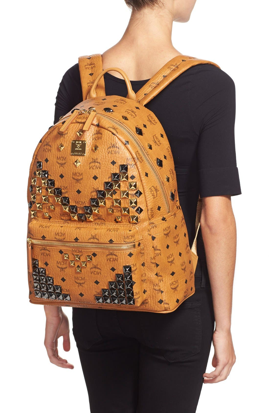 Alternate Image 2  - MCM 'Medium Stark M' Stud Backpack
