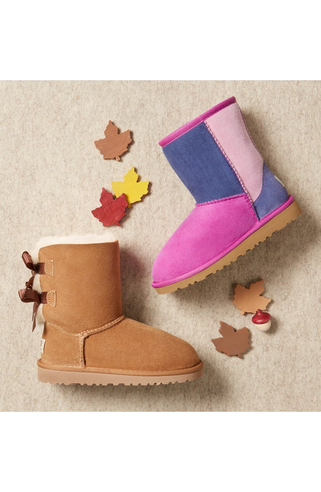 Alternate Image 5  - UGG® 'Classic Short - Patchwork' Boot (Walker)