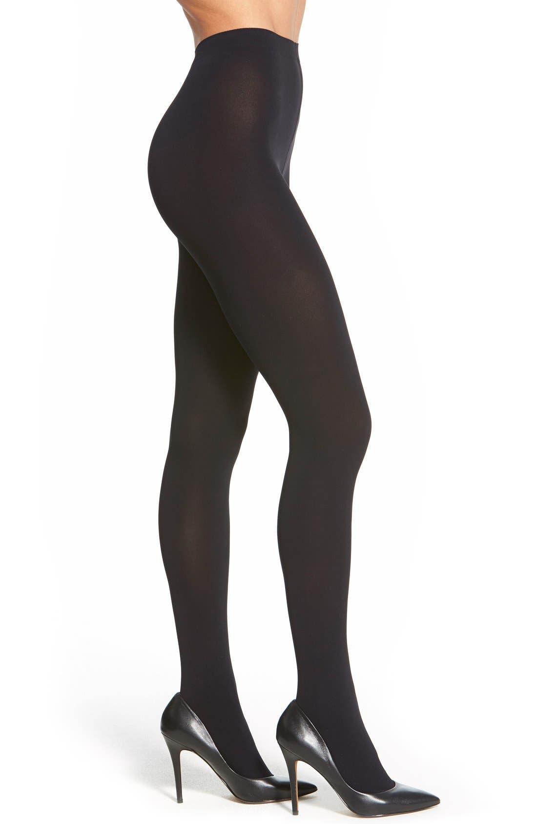'Pure Matte 100' Opaque Tights,                         Main,                         color, Black