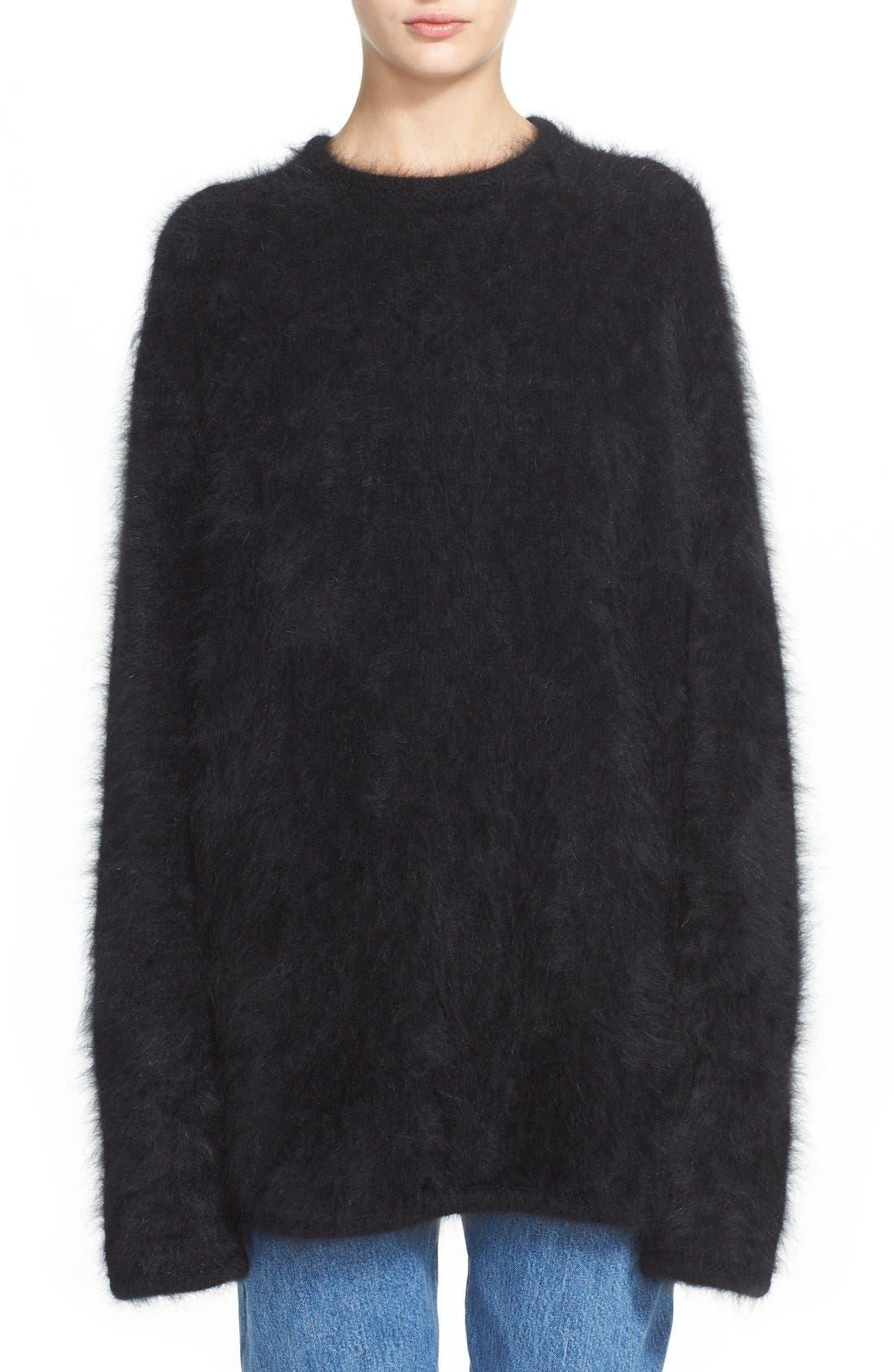 Main Image - Vetements Open Back Oversize Angora Blend Sweater