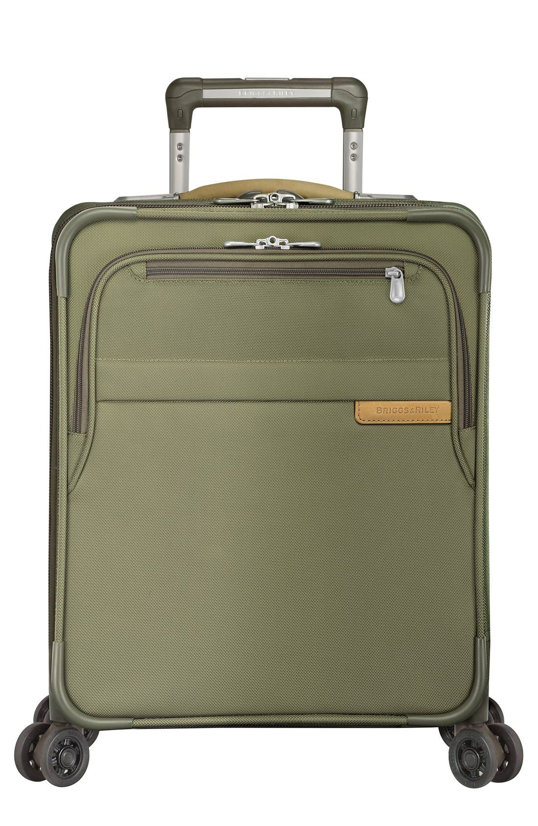 'Baseline - Commuter' Expandable Rolling Carry-On,                             Alternate thumbnail 3, color,                             Olive