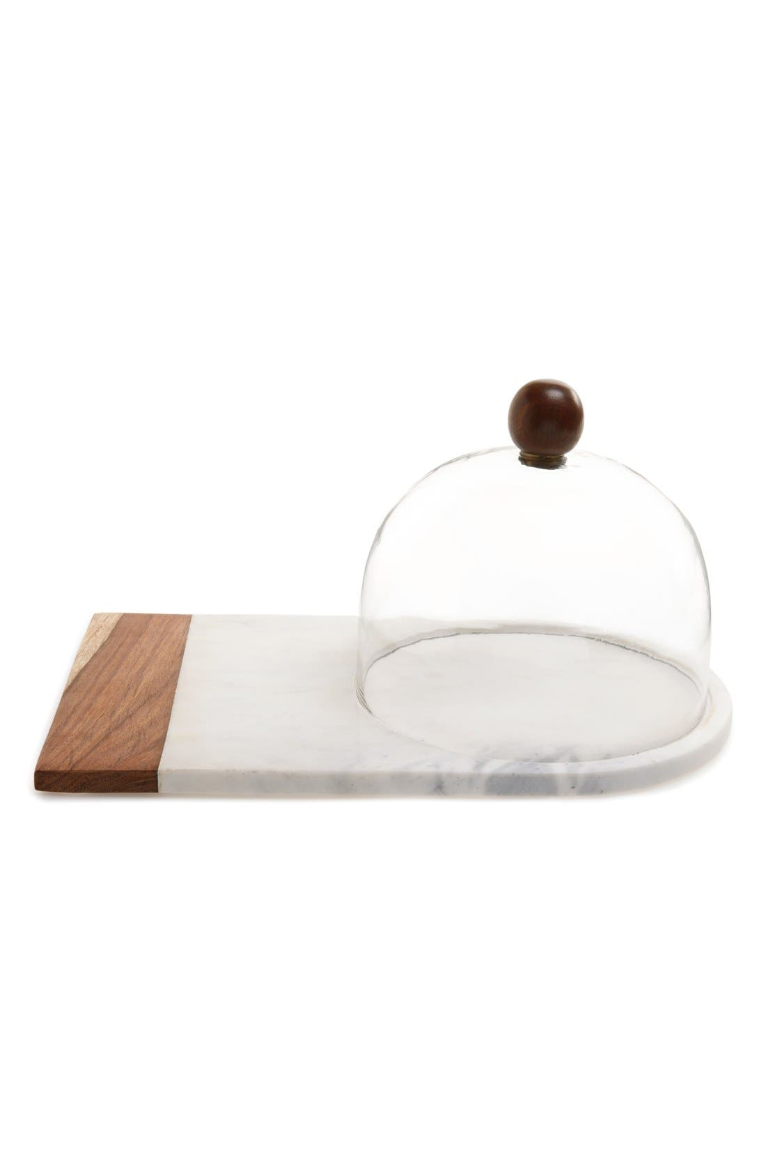 Alternate Image 1 Selected - Thirstystone Marble & Wood Serving Platter