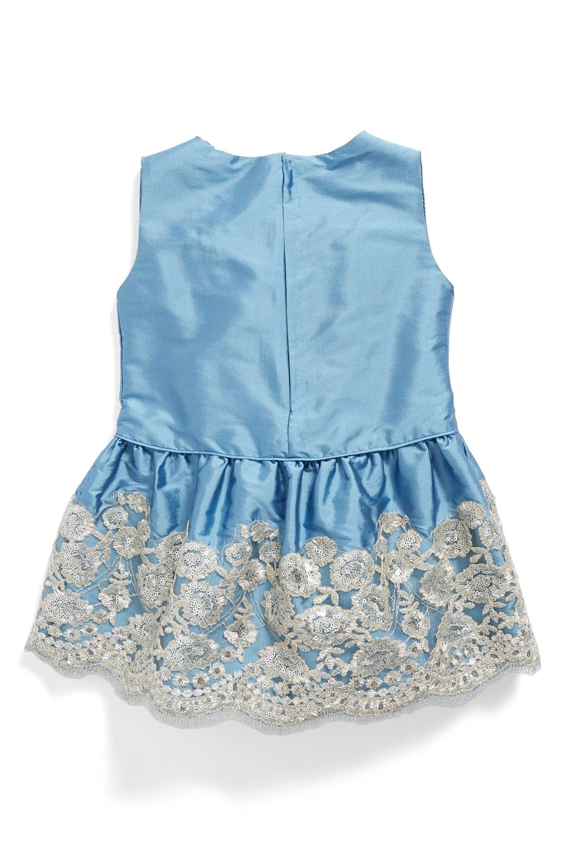 Drop Waist Dress,                             Alternate thumbnail 2, color,                             Sky Taffeta