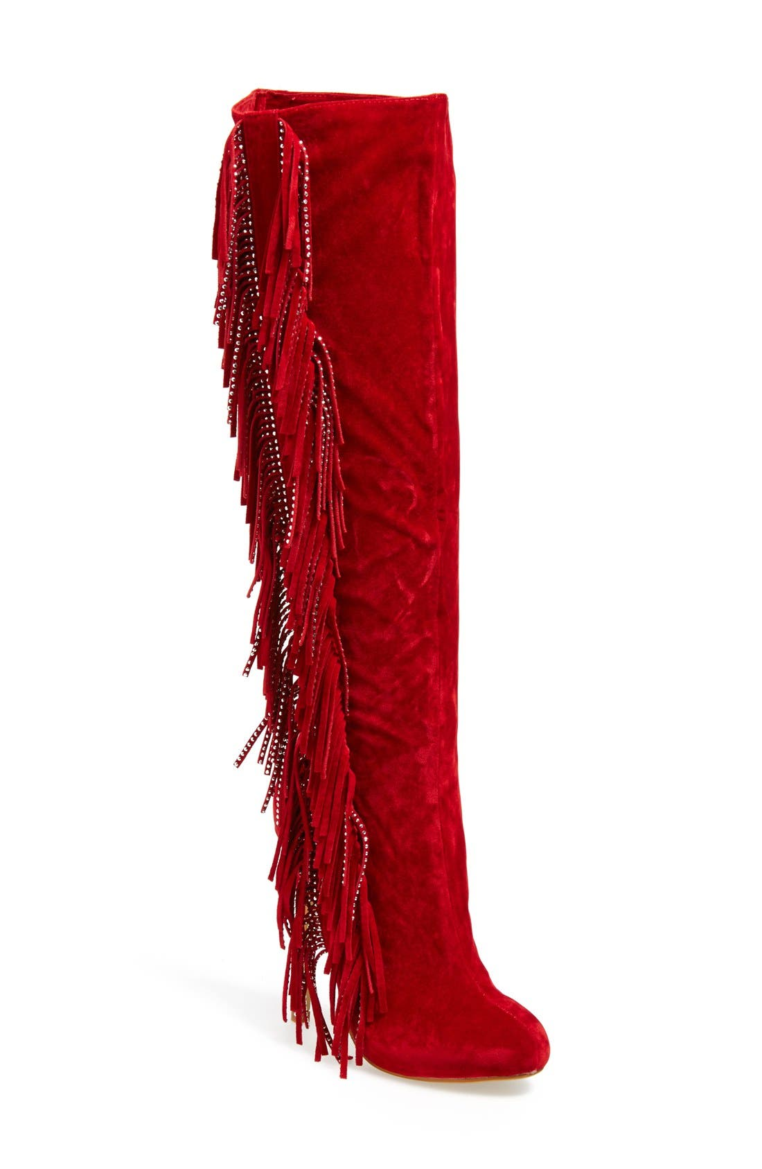 Alternate Image 1 Selected - Lauren Lorraine 'Dolly' Fringe Boot (Women)