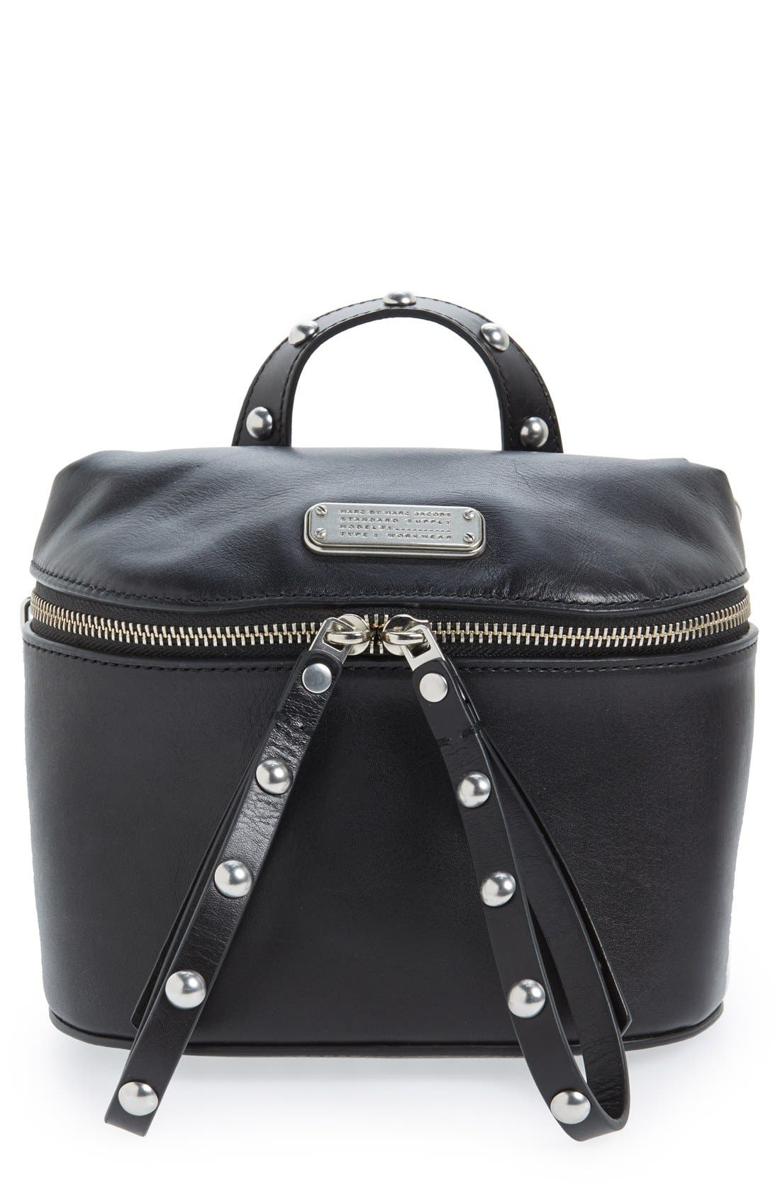 MARC BY MARC JACOBS 'Canteen Rivets' Crossbody Bag,                         Main,                         color, Black