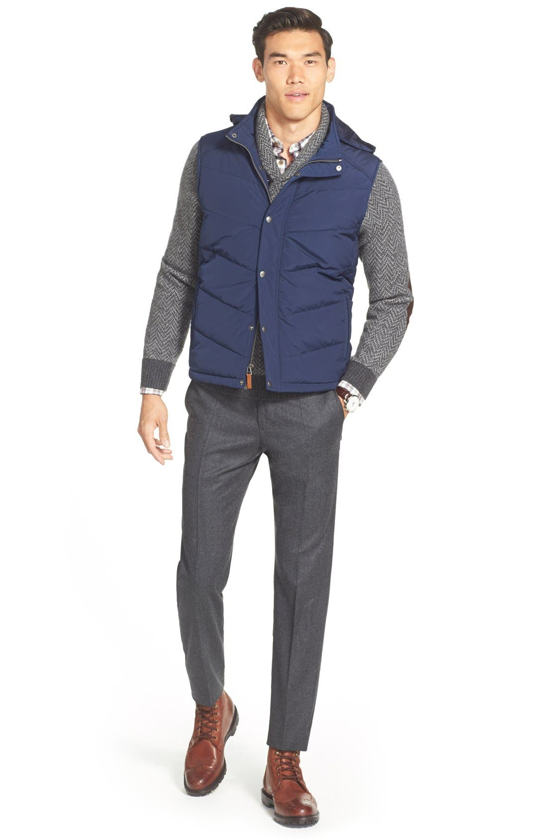 Alternate Image 5  - John W. Nordstrom® Shawl Collar Cashmere Sweater (Regular & Tall)