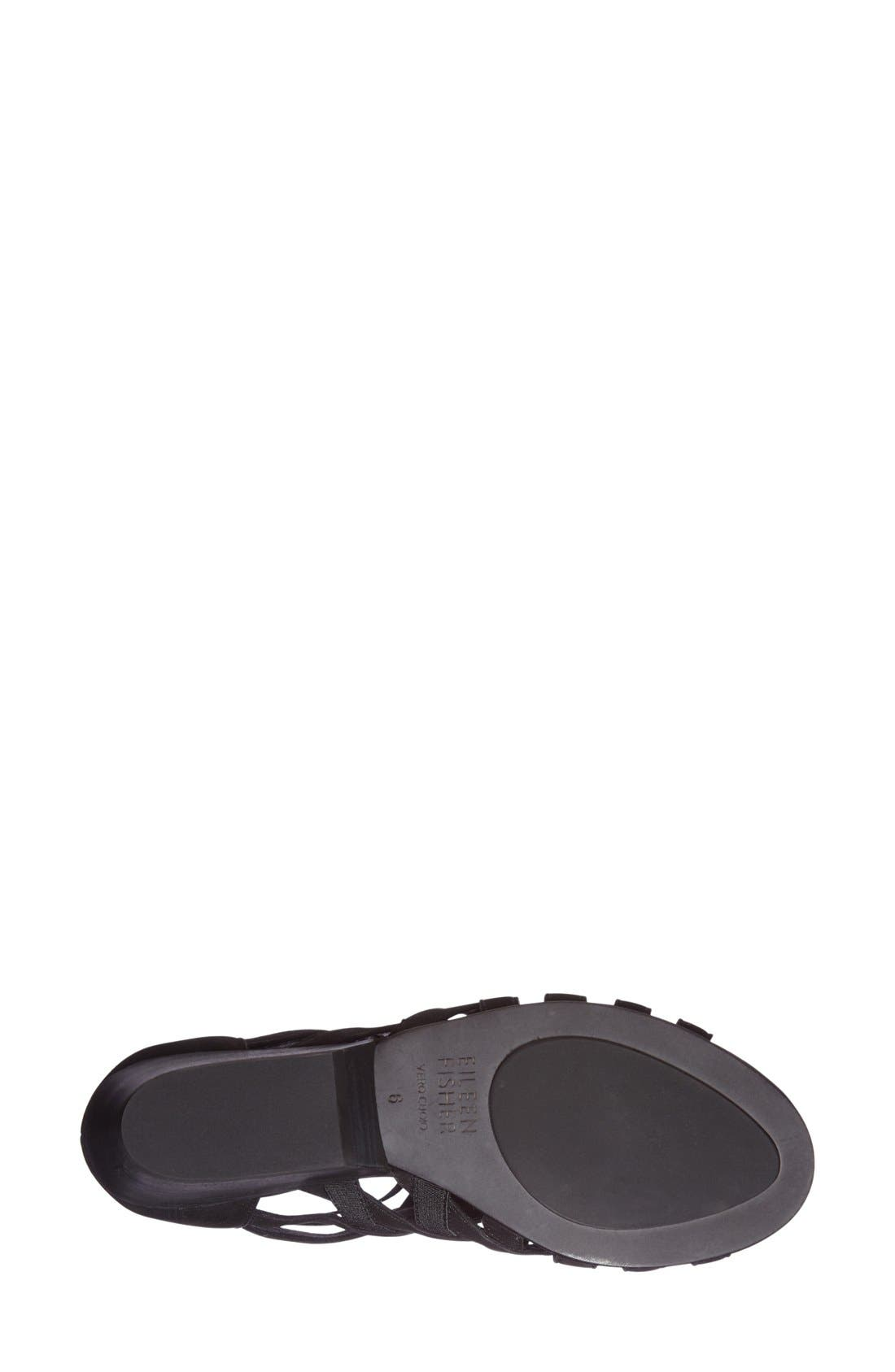 Oodle Sandal,                             Alternate thumbnail 4, color,                             Black